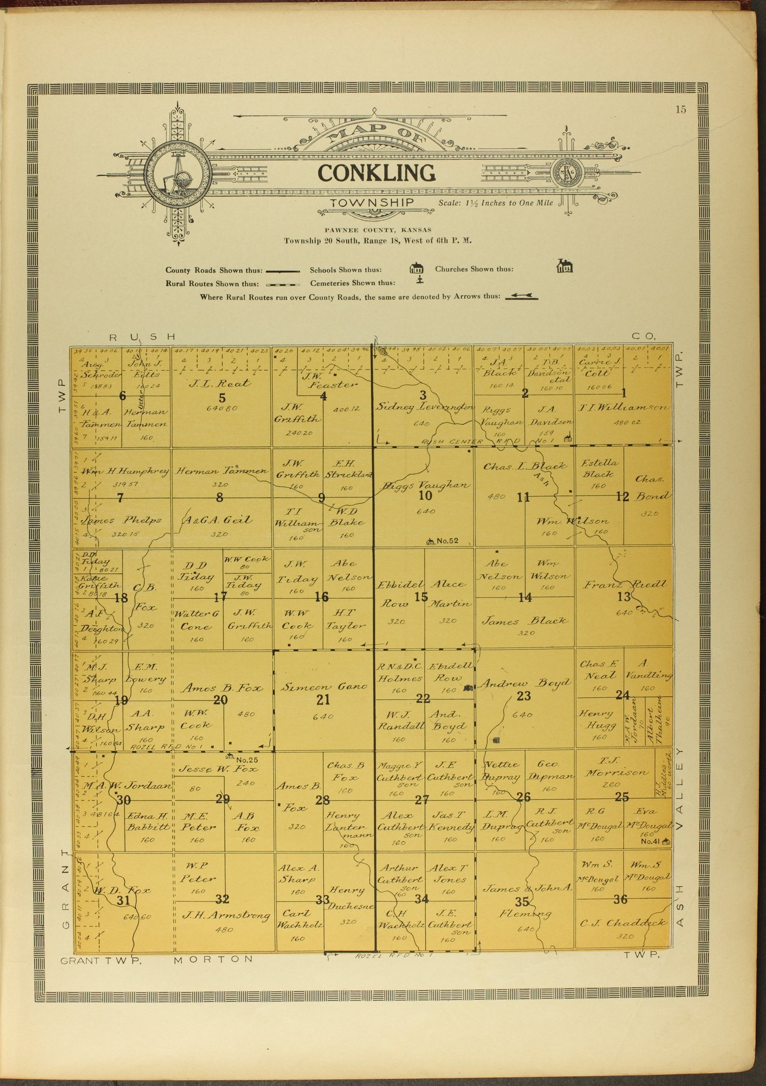Atlas and plat book of Pawnee County, Kansas - 15