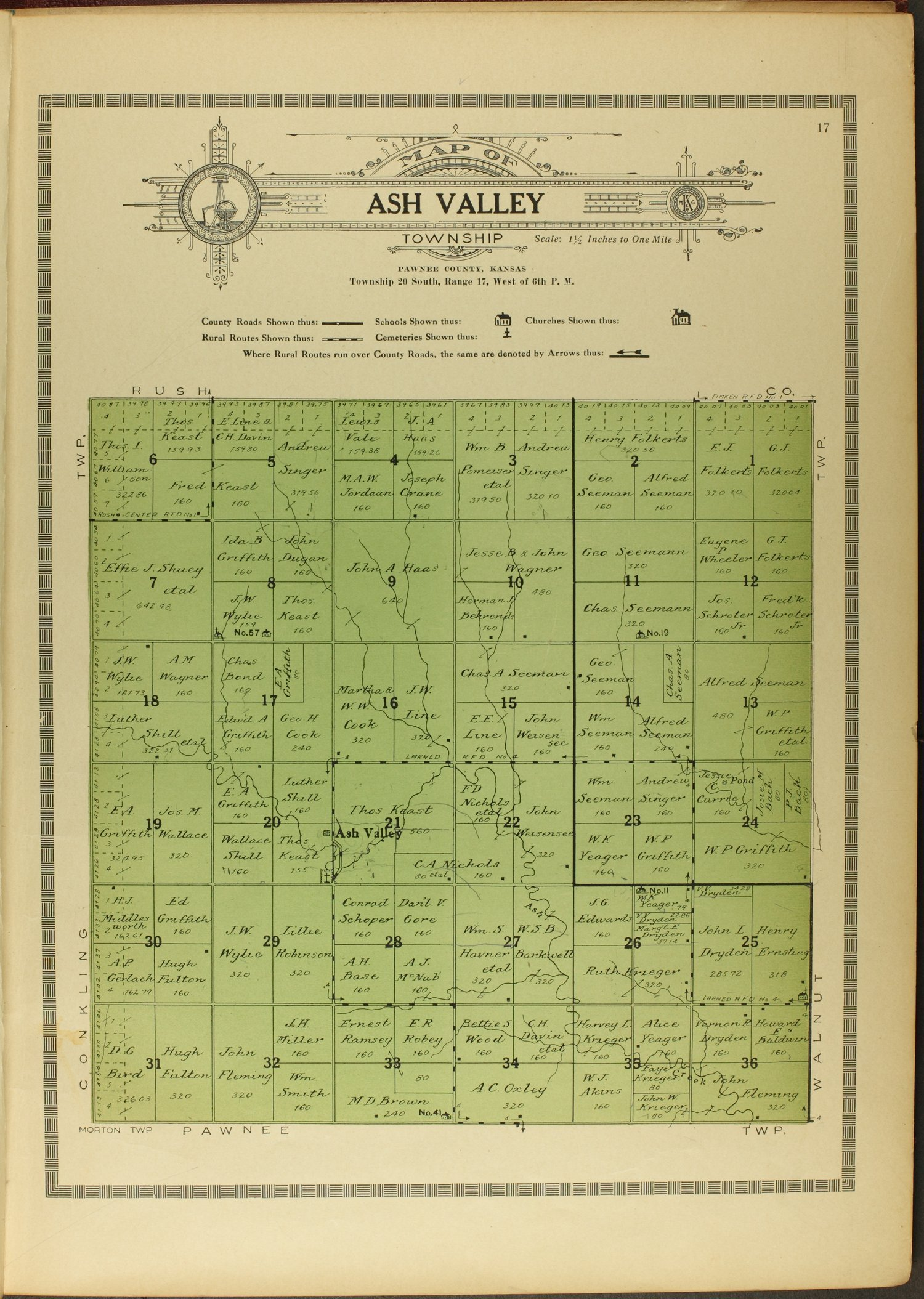 Atlas and plat book of Pawnee County, Kansas - 17
