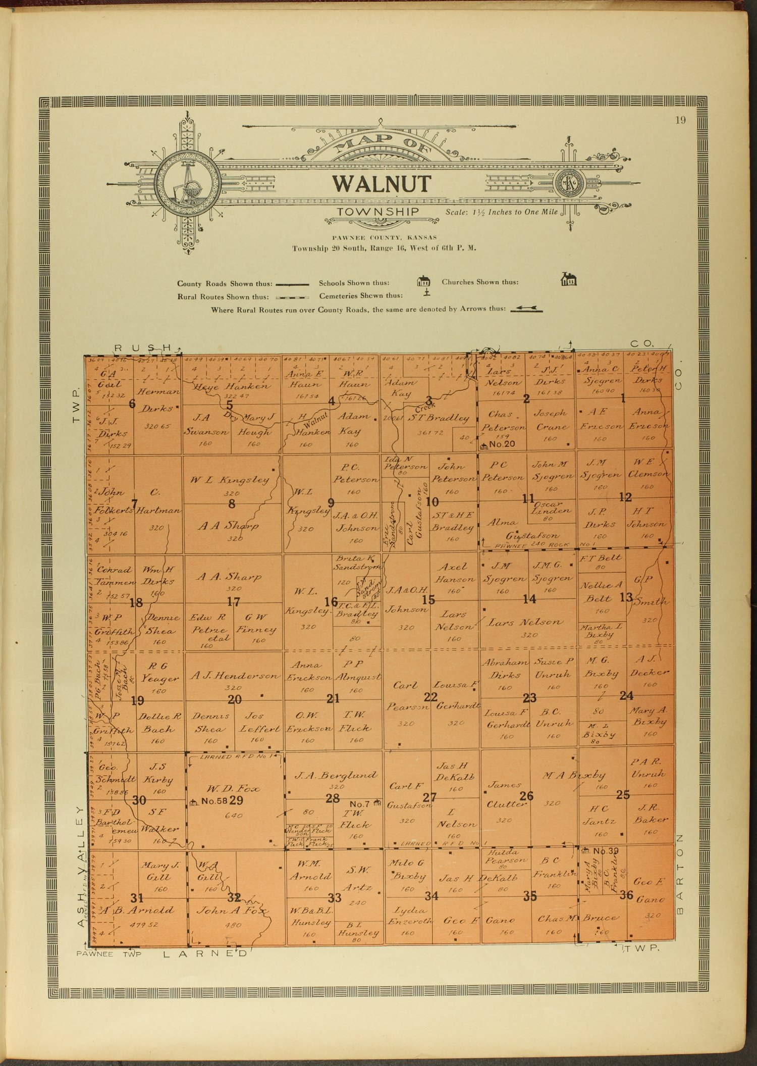 Atlas and plat book of Pawnee County, Kansas - 19