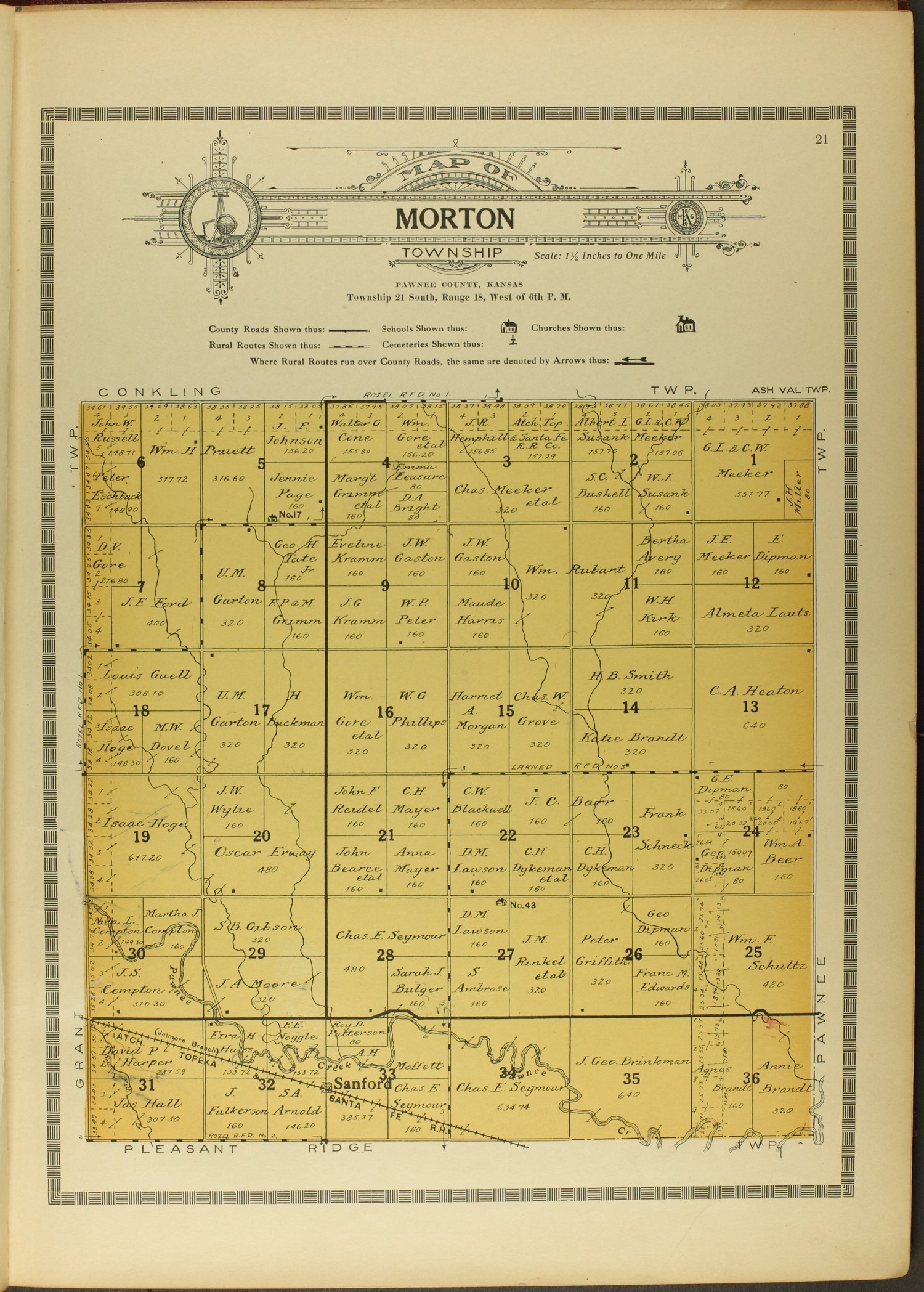 Atlas and plat book of Pawnee County, Kansas - 21
