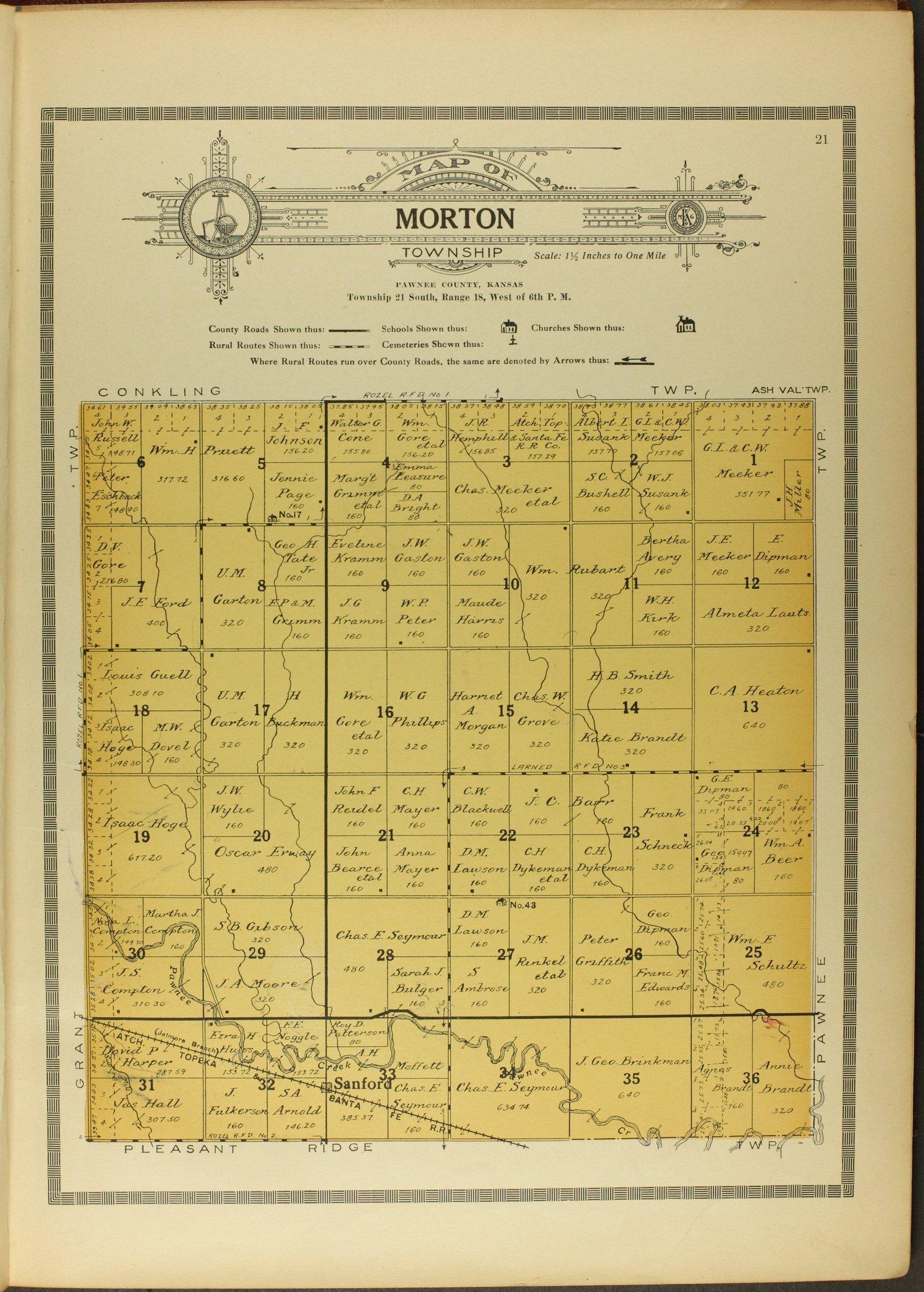 Atlas and plat book of Pawnee County, Kansas - 21