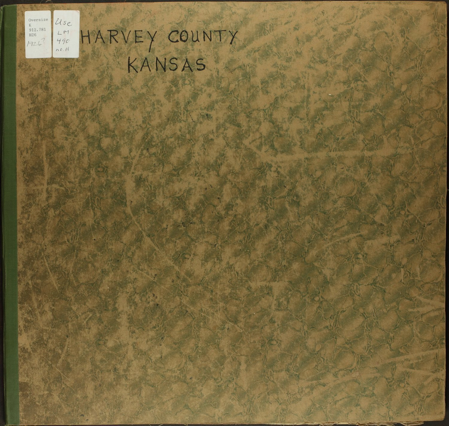 Mitchell map of Harvey County, Kansas - Front Cover