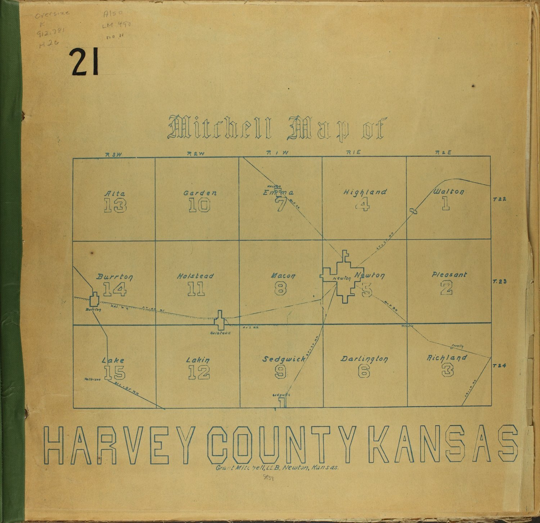 Mitchell map of Harvey County, Kansas - twp. map of Harvey Co