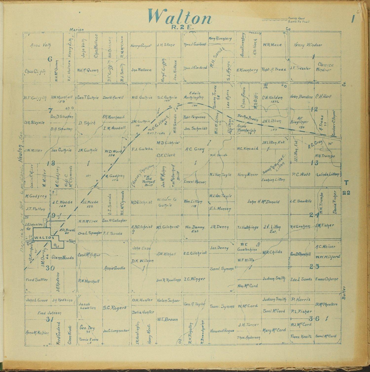 Mitchell map of Harvey County, Kansas - 1
