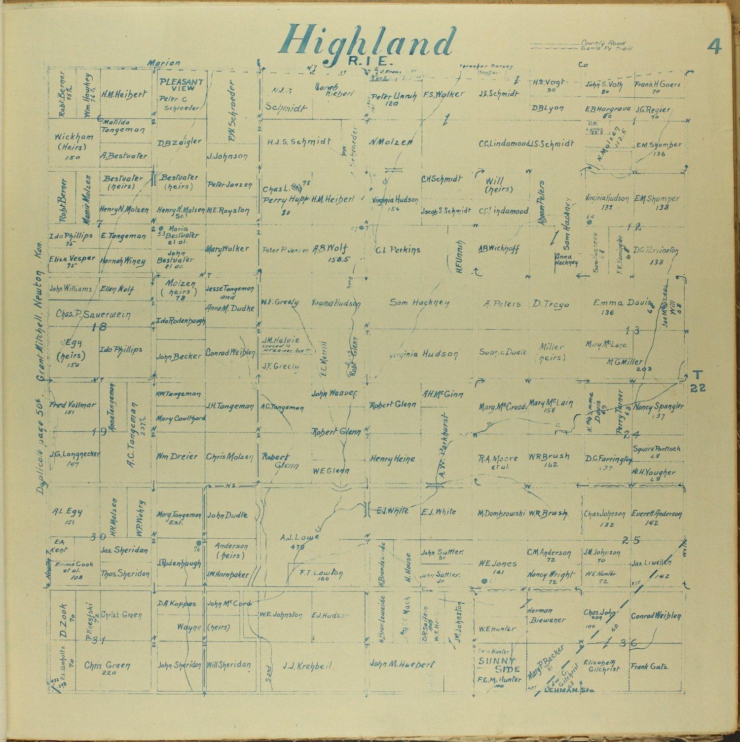 Mitchell map of Harvey County, Kansas - 4