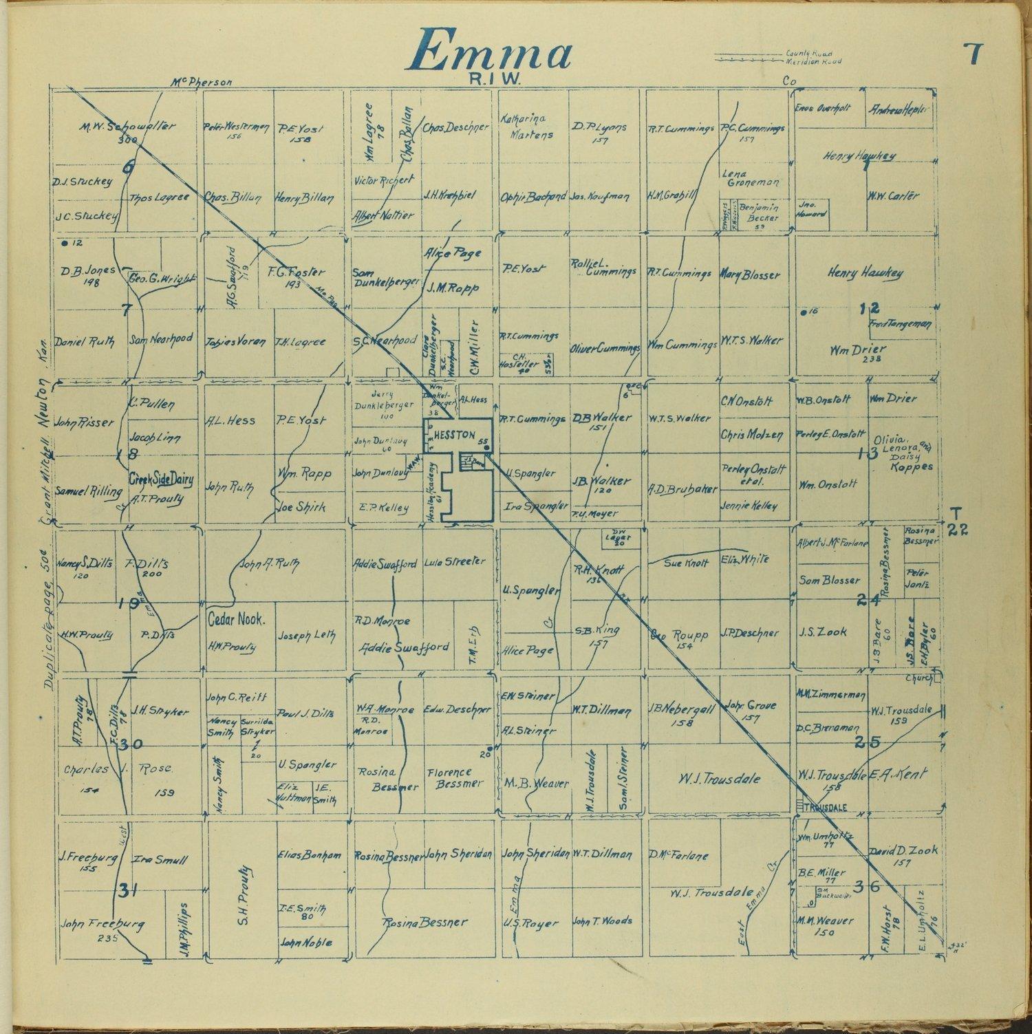 Mitchell map of Harvey County, Kansas - 7