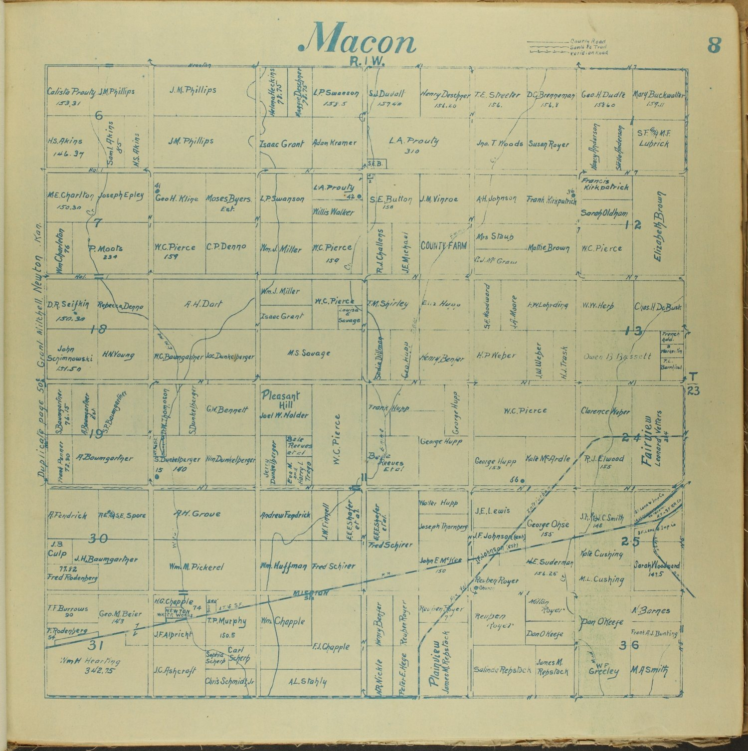 Mitchell map of Harvey County, Kansas - 8