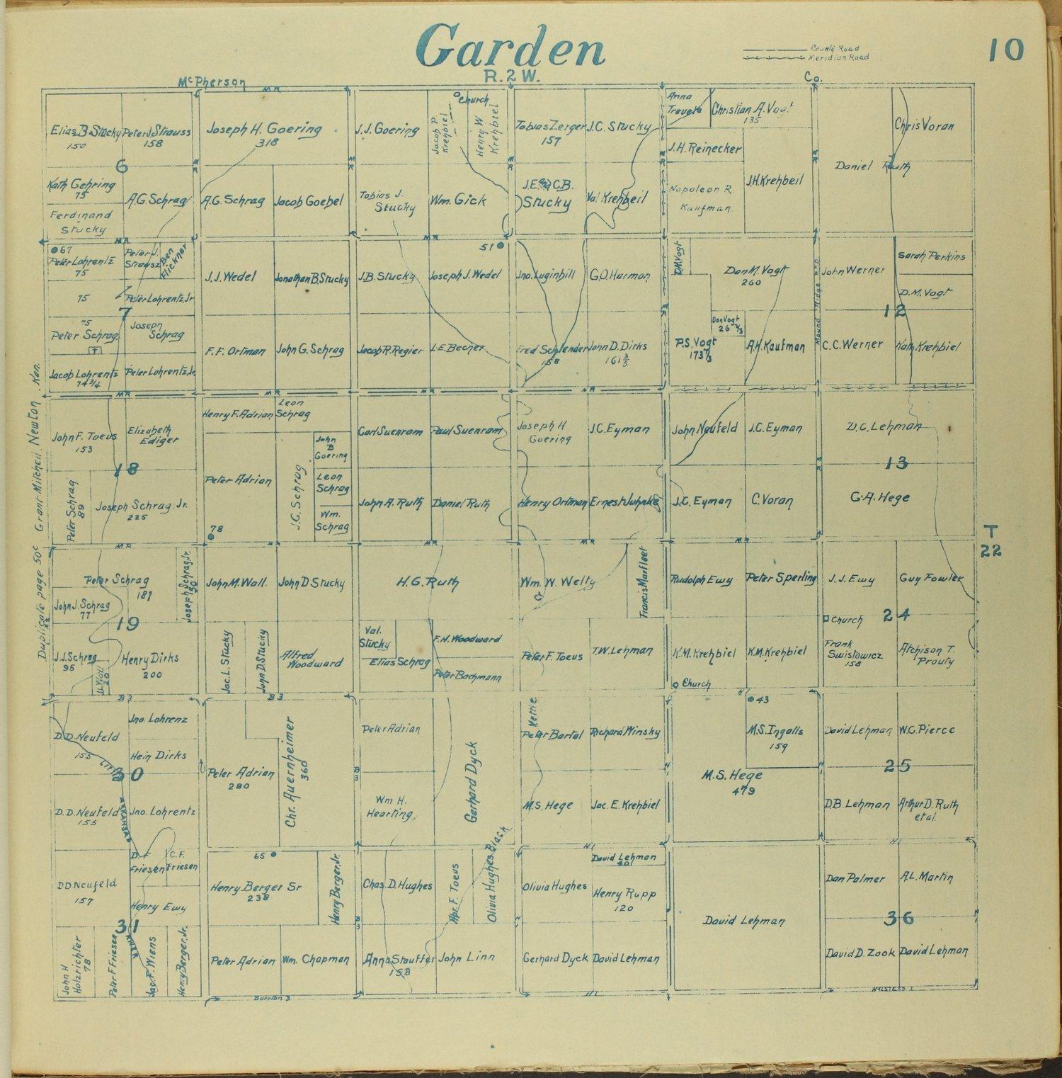 Mitchell map of Harvey County, Kansas - 10