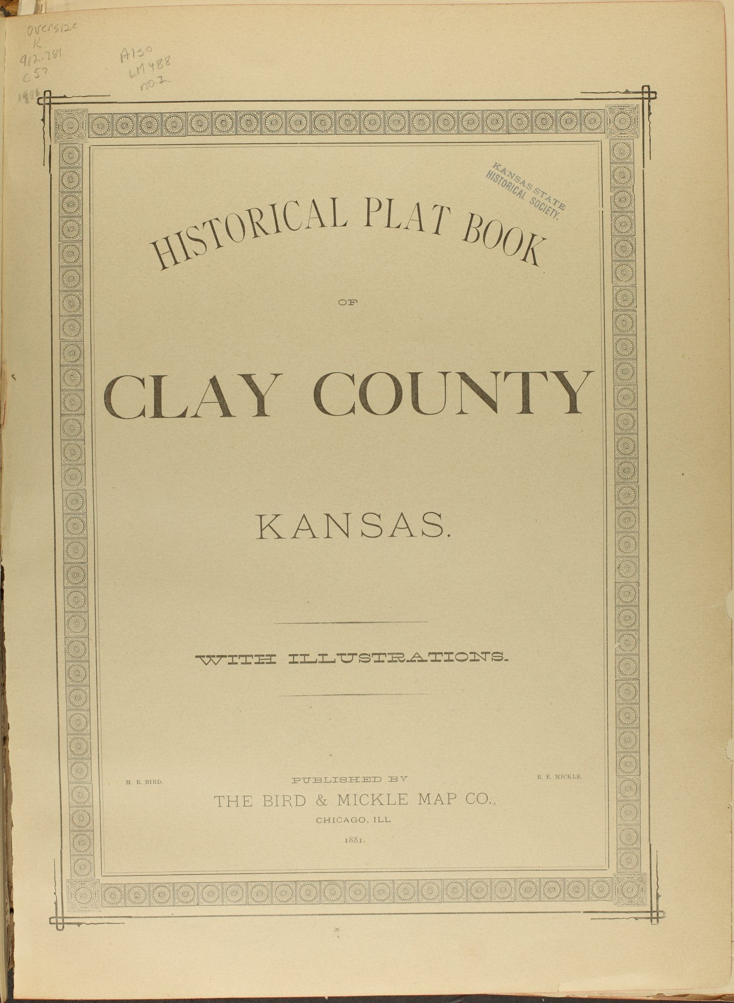 Historical plat book of Clay County, Kansas - Title Page