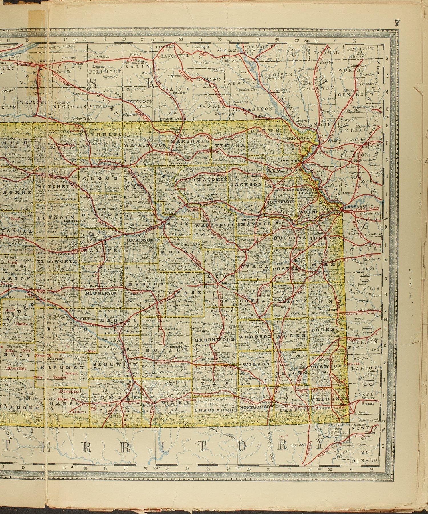 Historical plat book of Clay County, Kansas - Map of Kansas