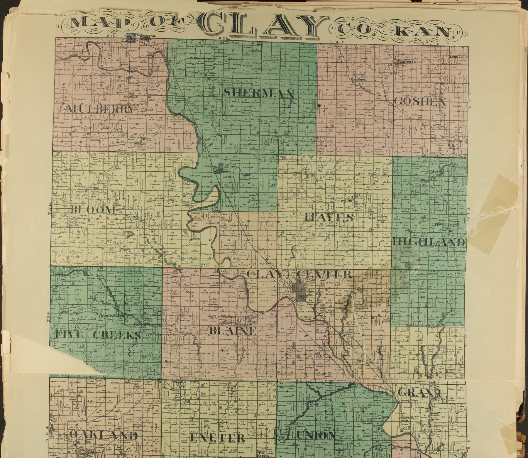 Historical plat book of Clay County, Kansas - 9