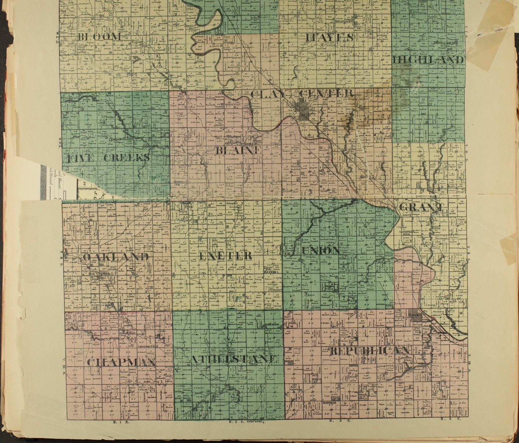 Historical plat book of Clay County, Kansas - 10