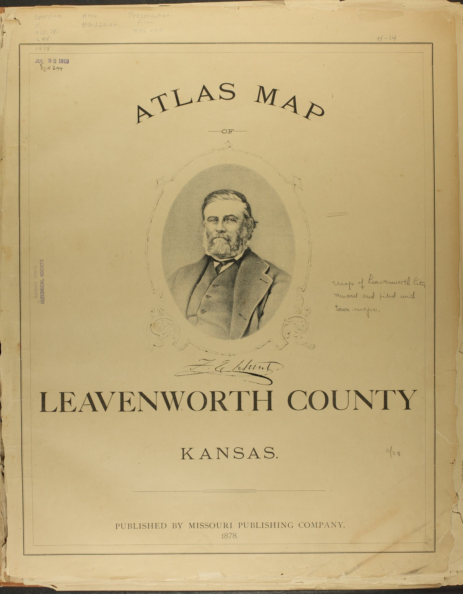 Atlas map of Leavenworth County, Kansas - Title Page