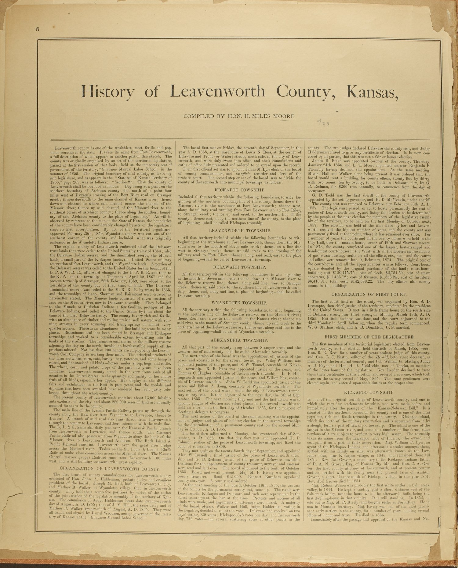 Atlas map of Leavenworth County, Kansas - 6