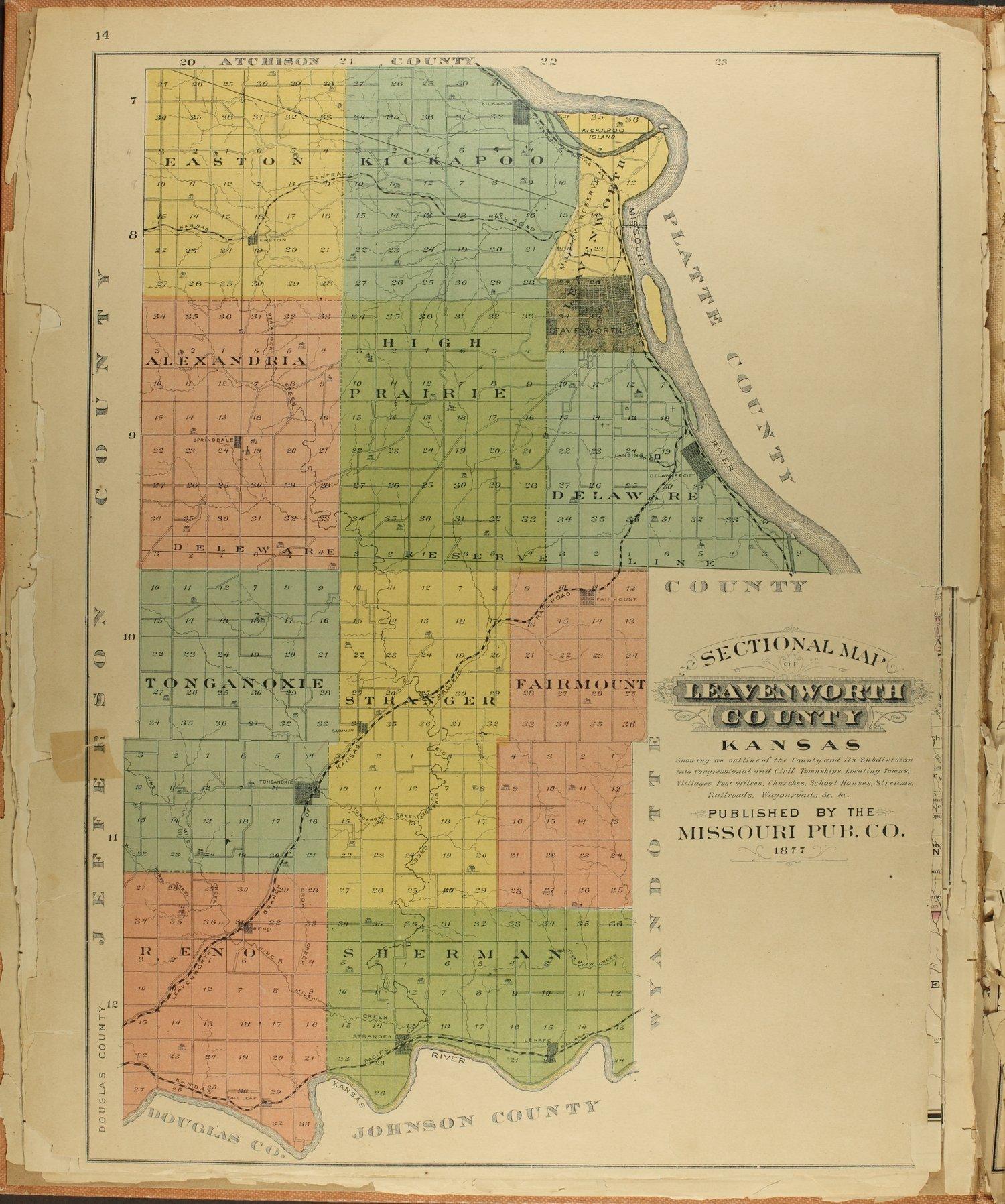 Atlas map of Leavenworth County, Kansas - 14