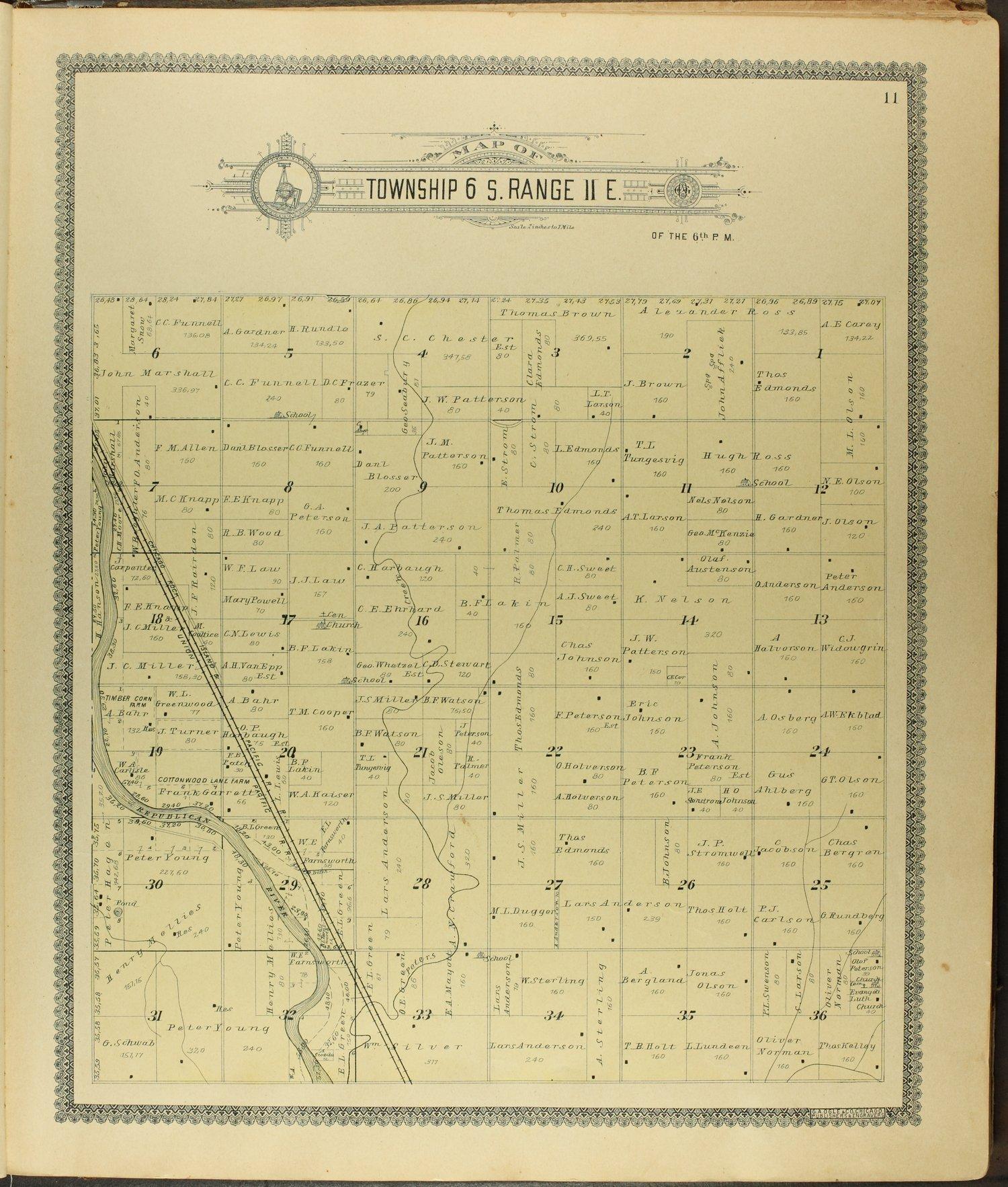 Standard atlas of Clay County, Kansas - 11