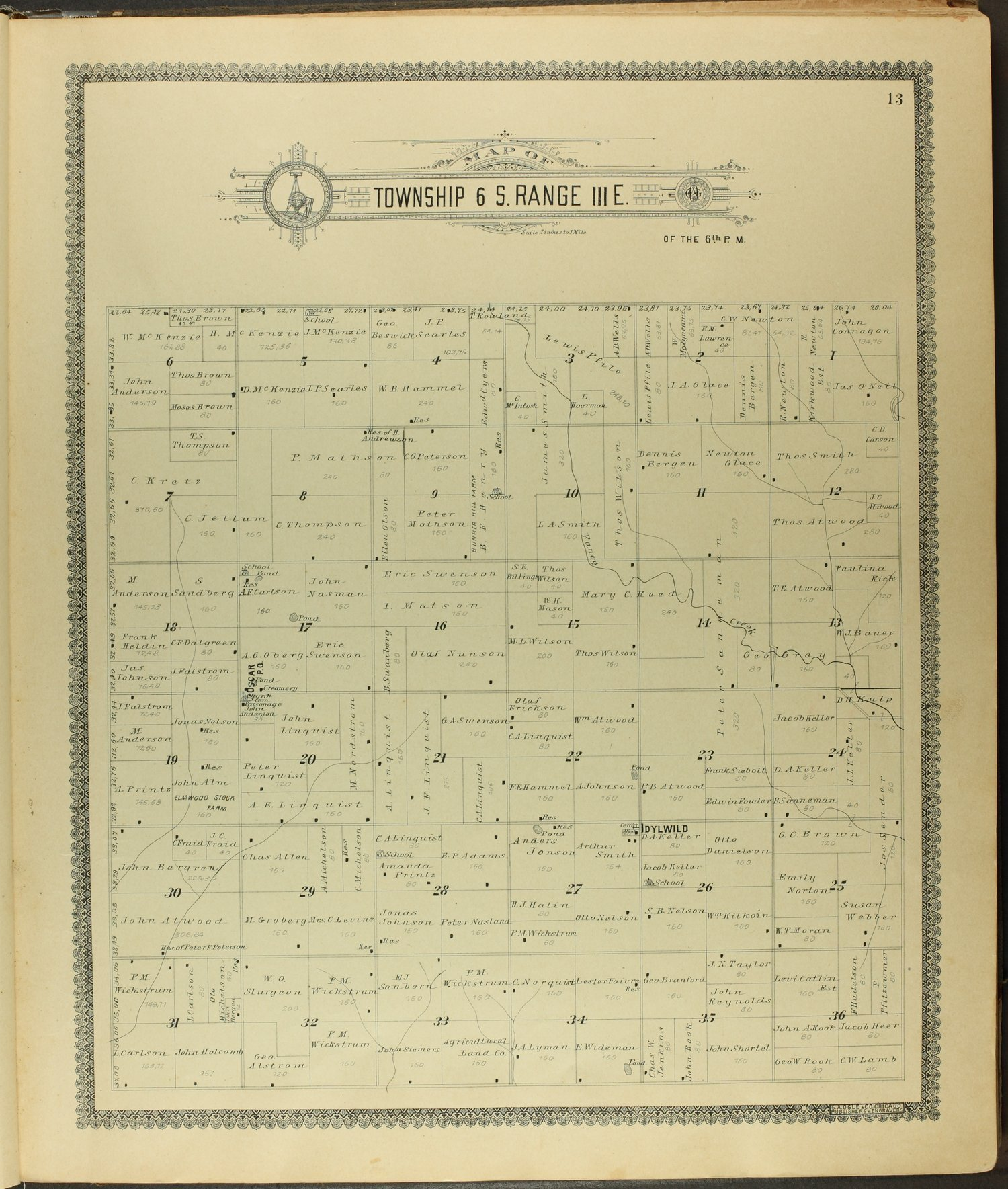 Standard atlas of Clay County, Kansas - 13