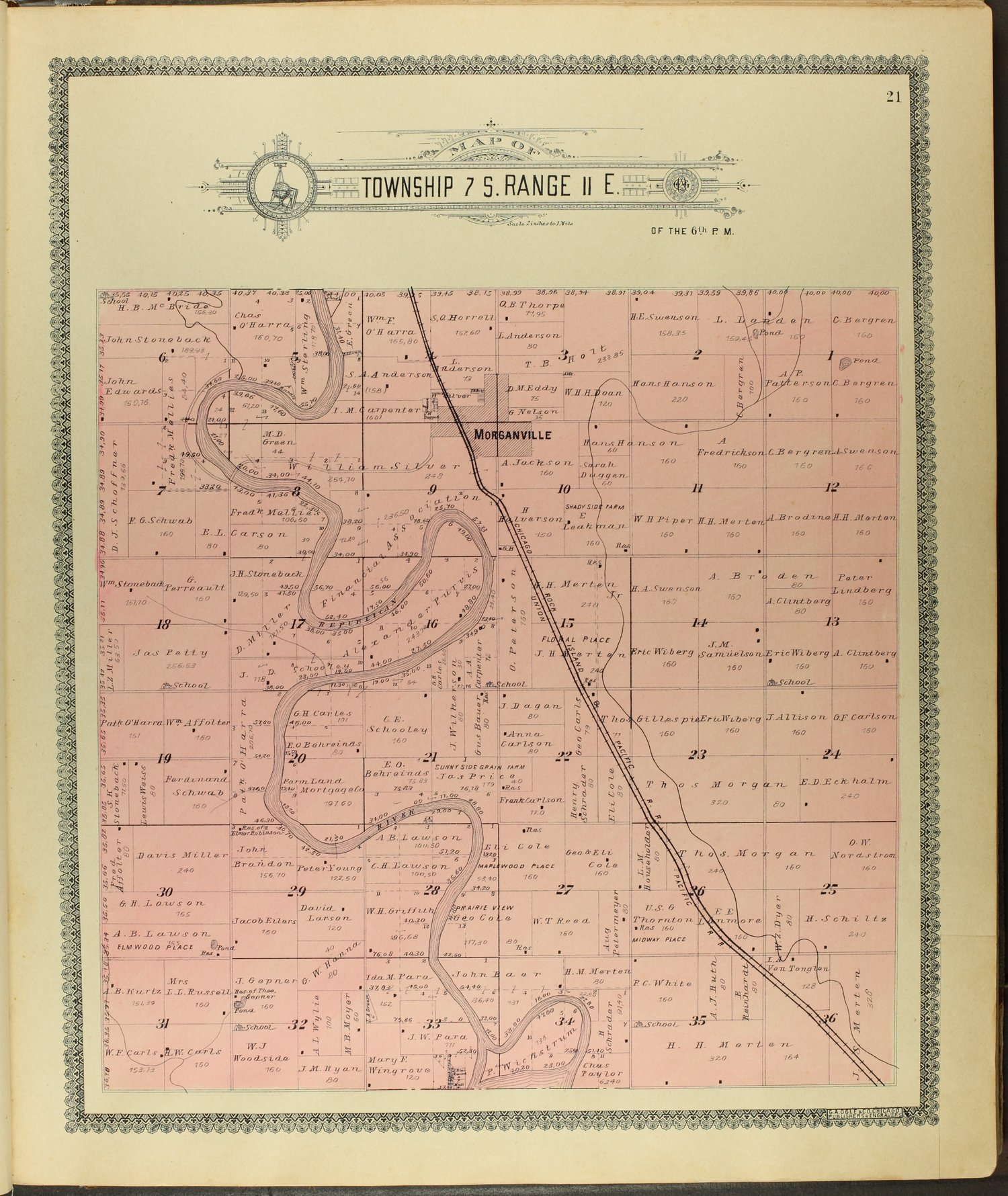 Standard atlas of Clay County, Kansas - 21