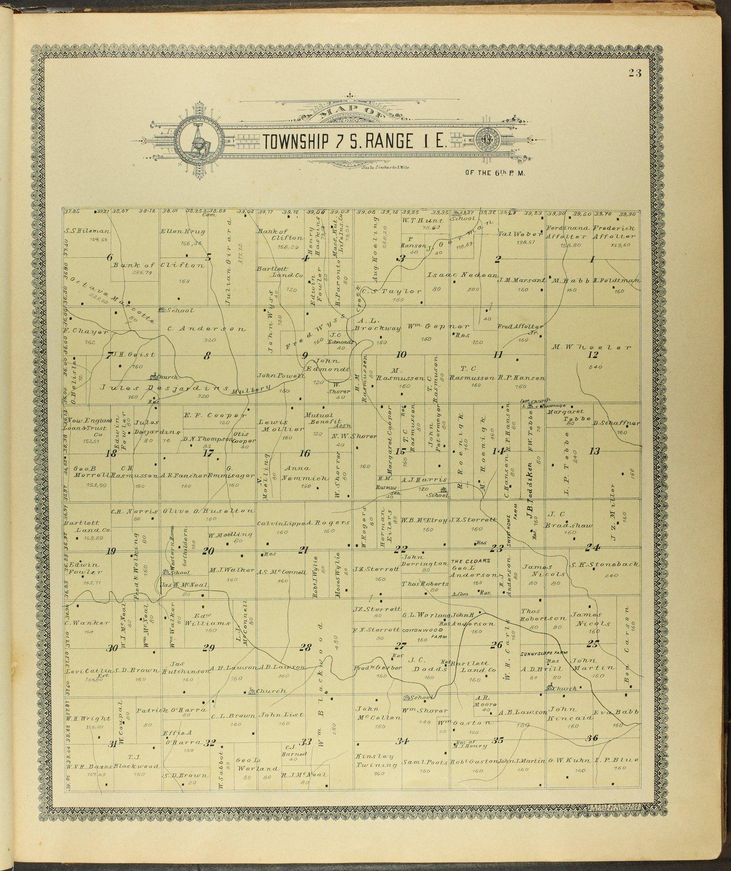 Standard atlas of Clay County, Kansas - 23
