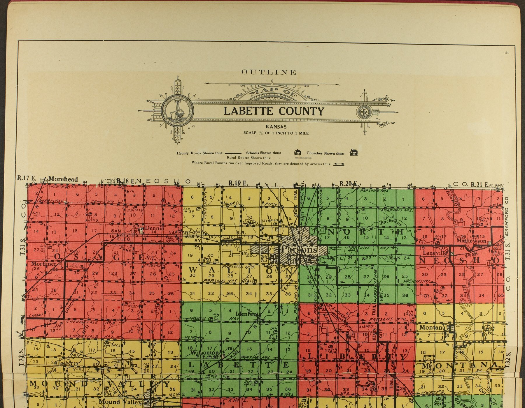 Atlas and plat book of Labette County, Kansas - 4