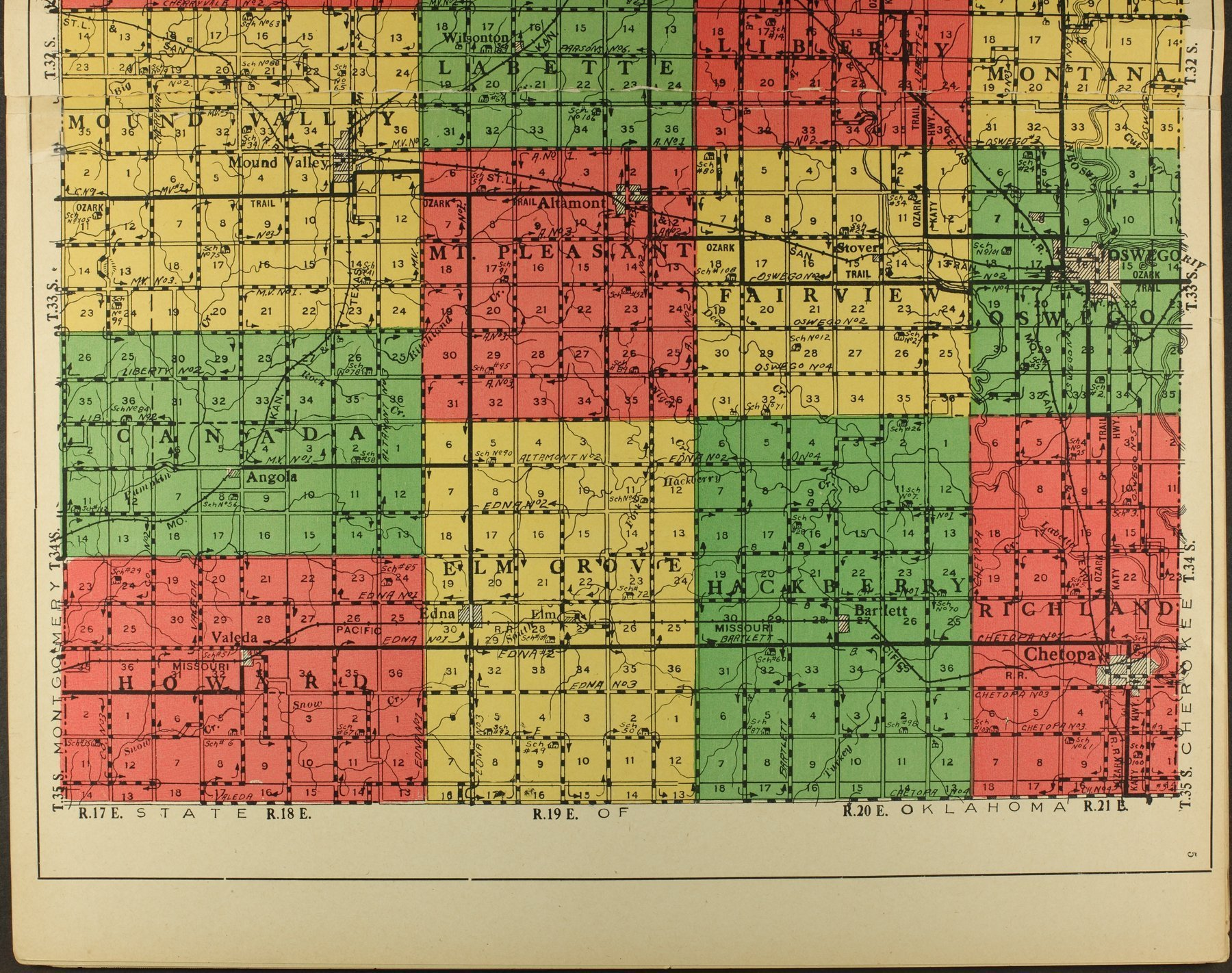 Atlas and plat book of Labette County, Kansas - 5