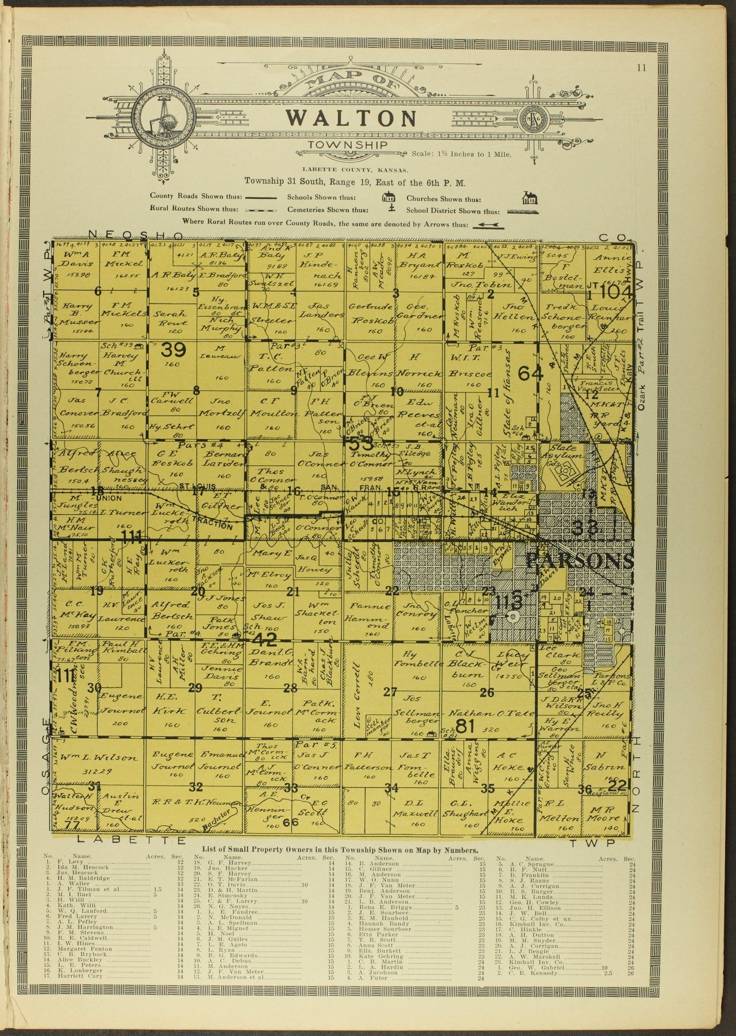 Atlas and plat book of Labette County, Kansas - 11