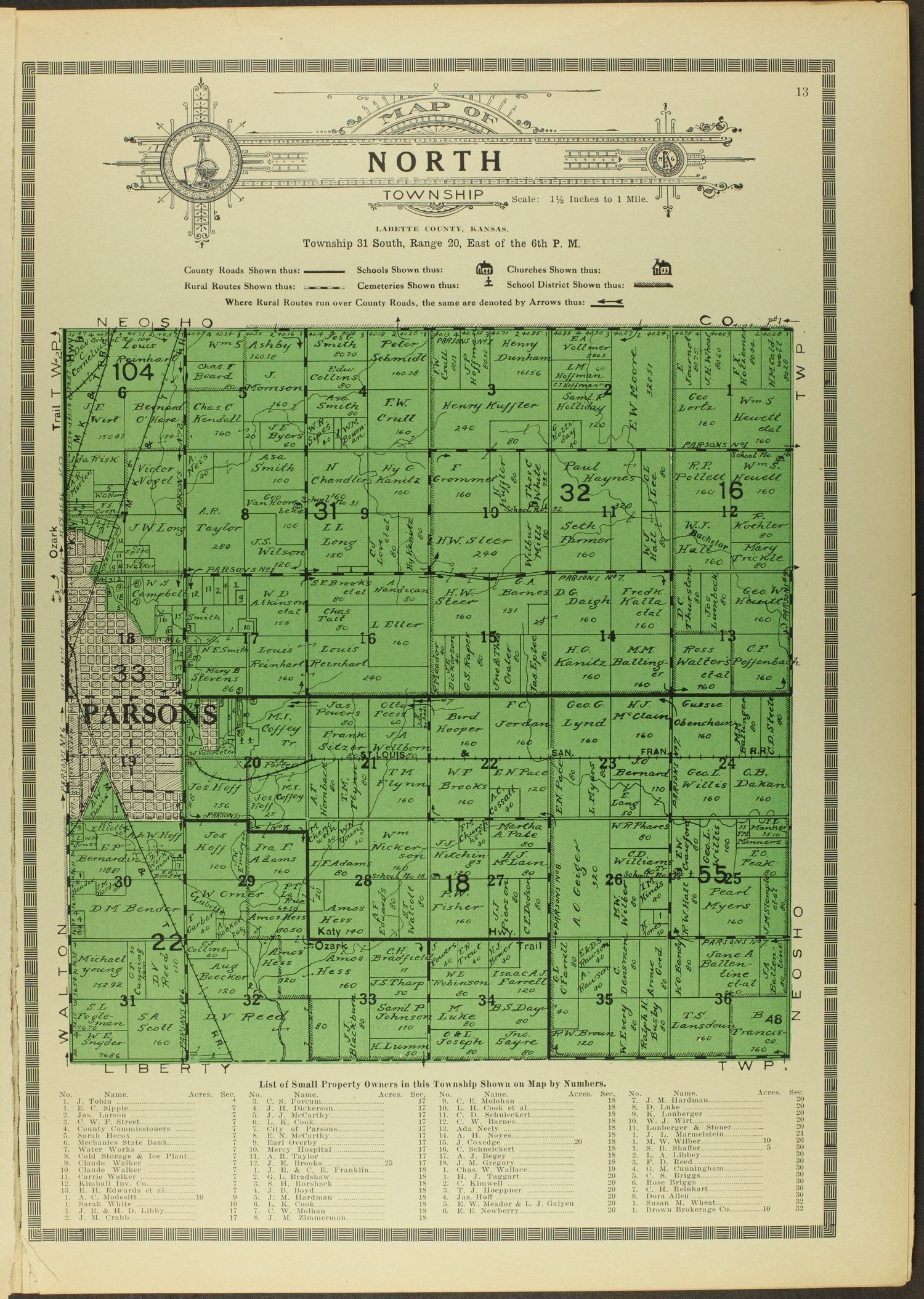 Atlas and plat book of Labette County, Kansas - 13