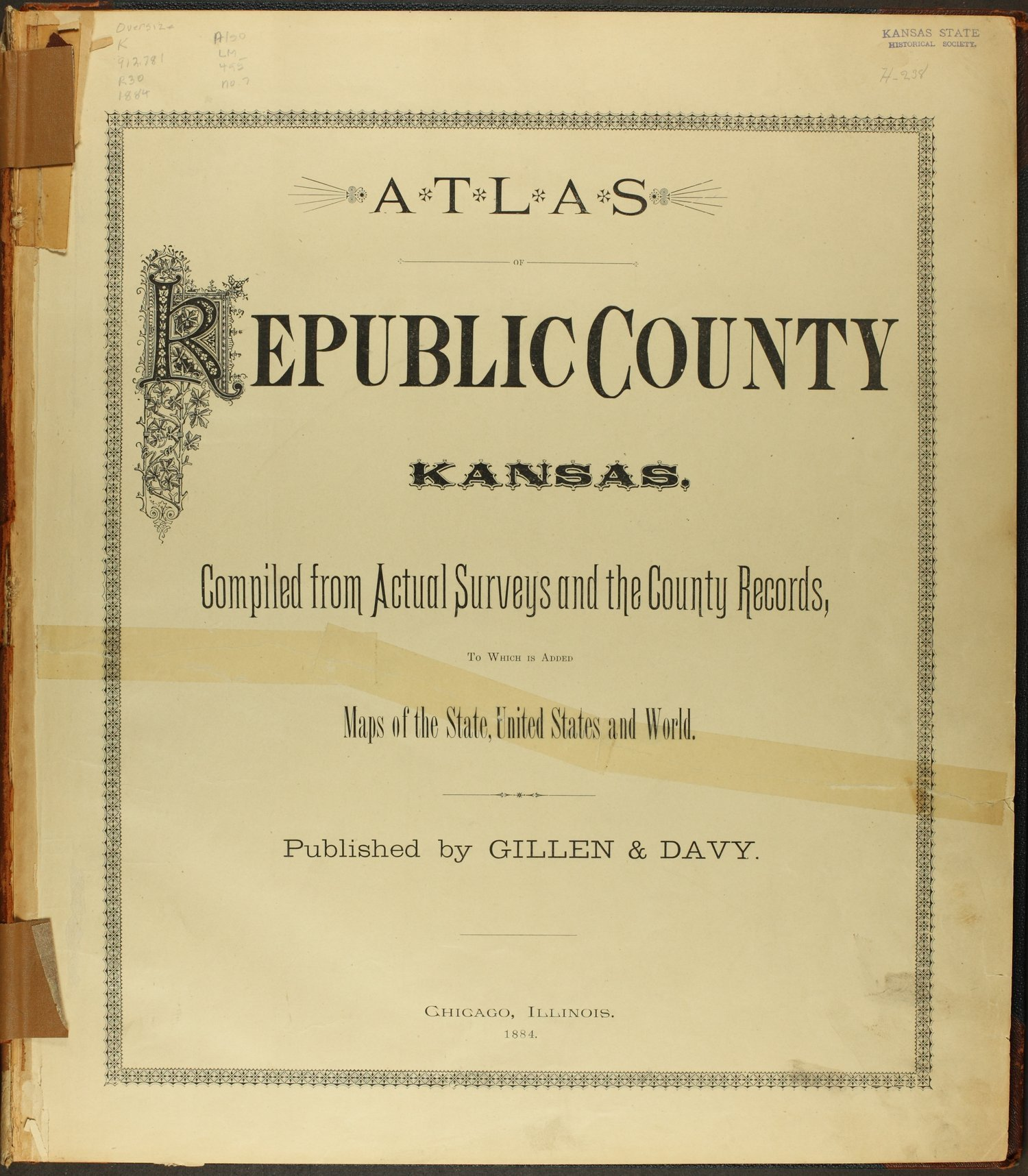 Atlas of Republic County, Kansas - Title Page