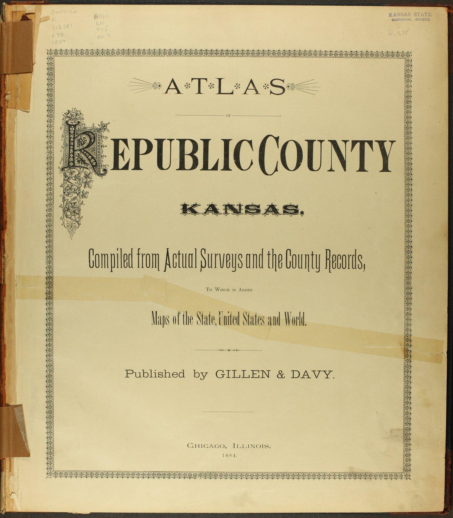 Atlas of Republic County, Kansas - Title Page