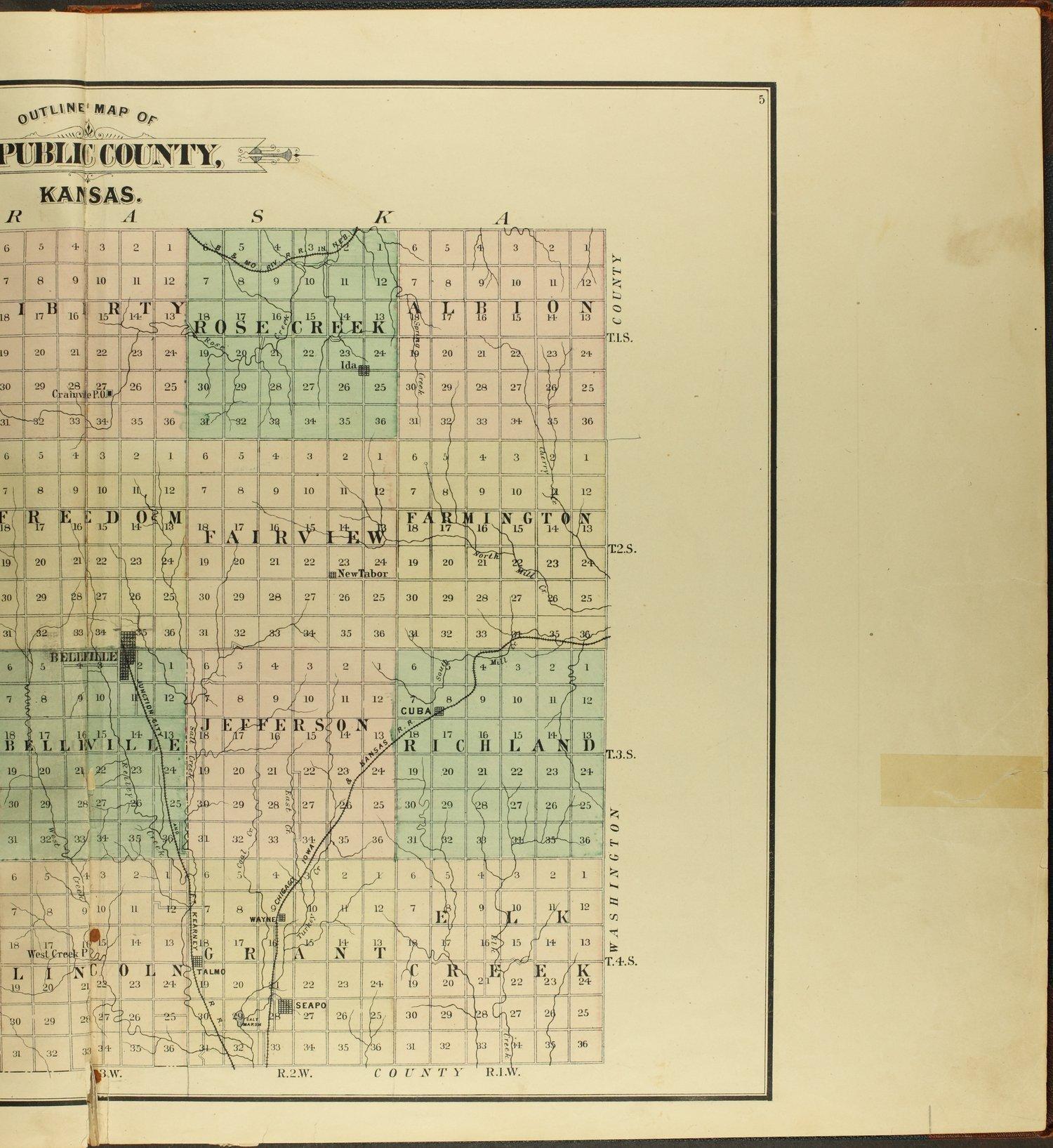 Atlas of Republic County, Kansas - 5