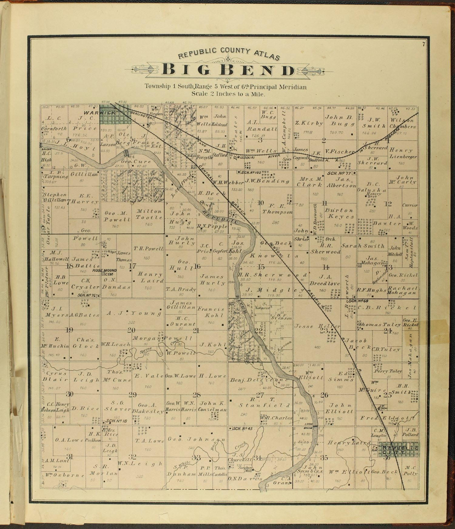 Atlas of Republic County, Kansas - 7