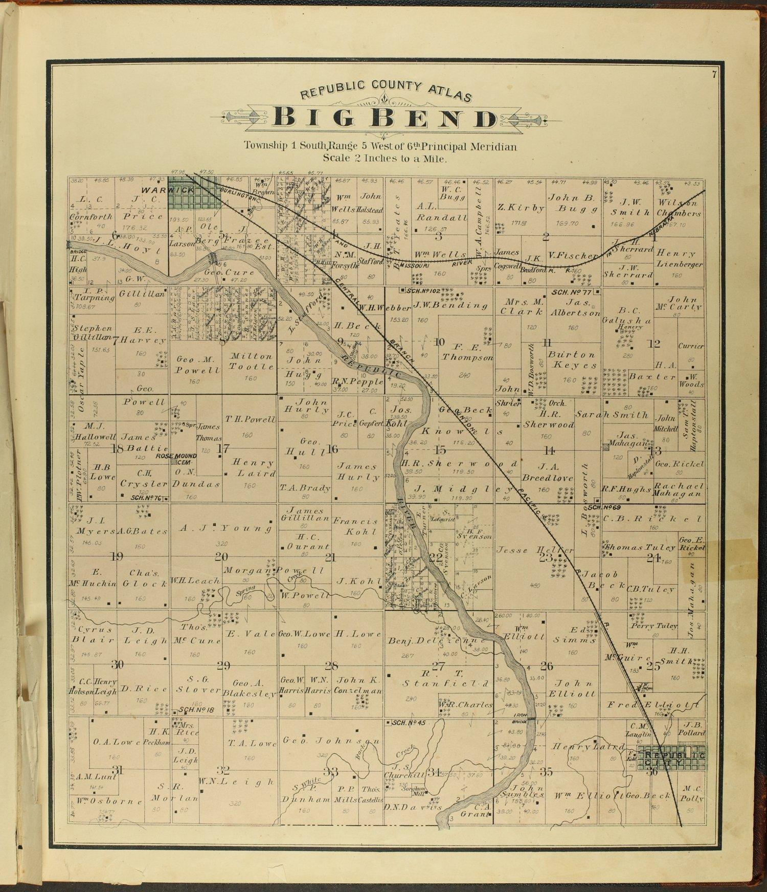 Atlas of Republic County, Kansas - 7