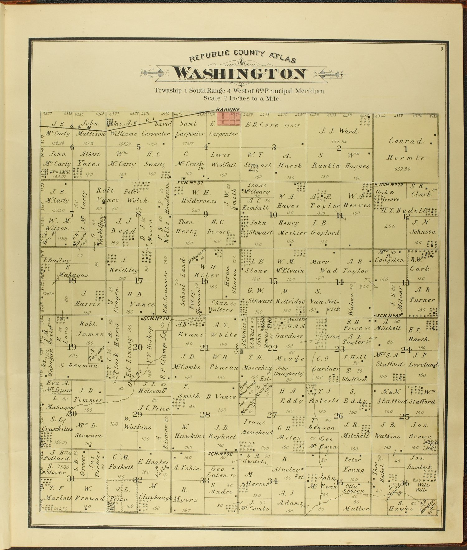 Atlas of Republic County, Kansas - 9