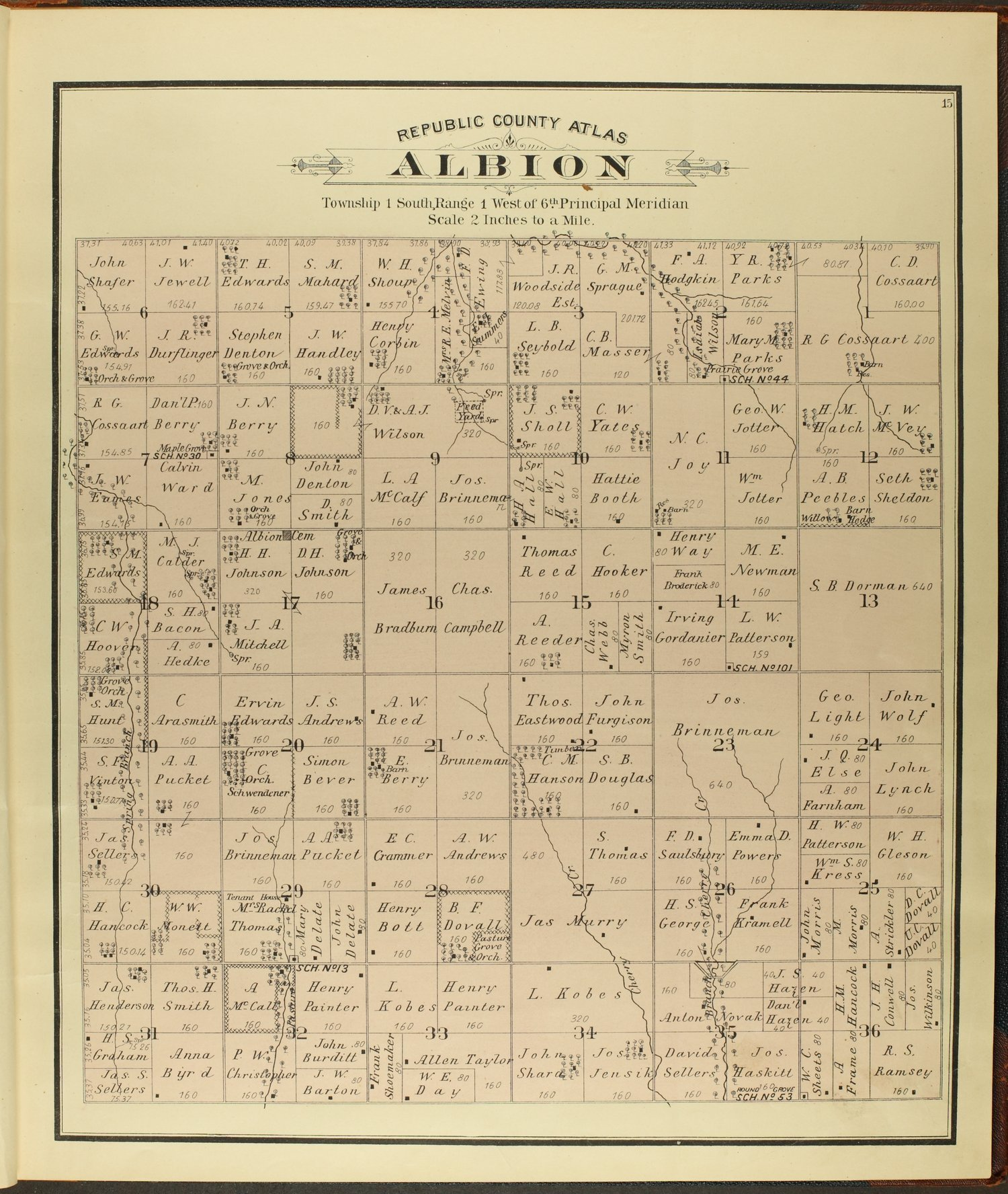 Atlas of Republic County, Kansas - 15