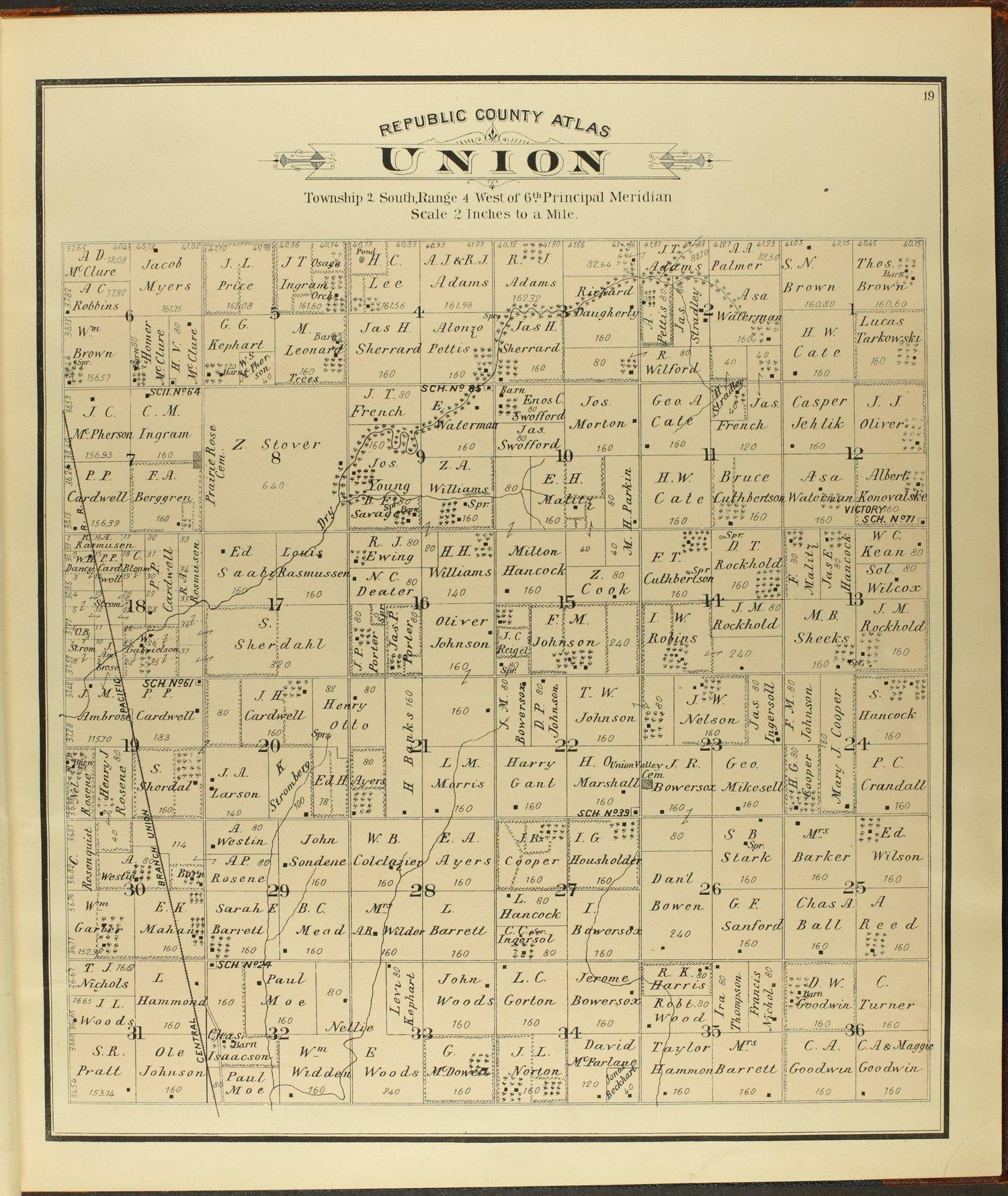 Atlas of Republic County, Kansas - 19