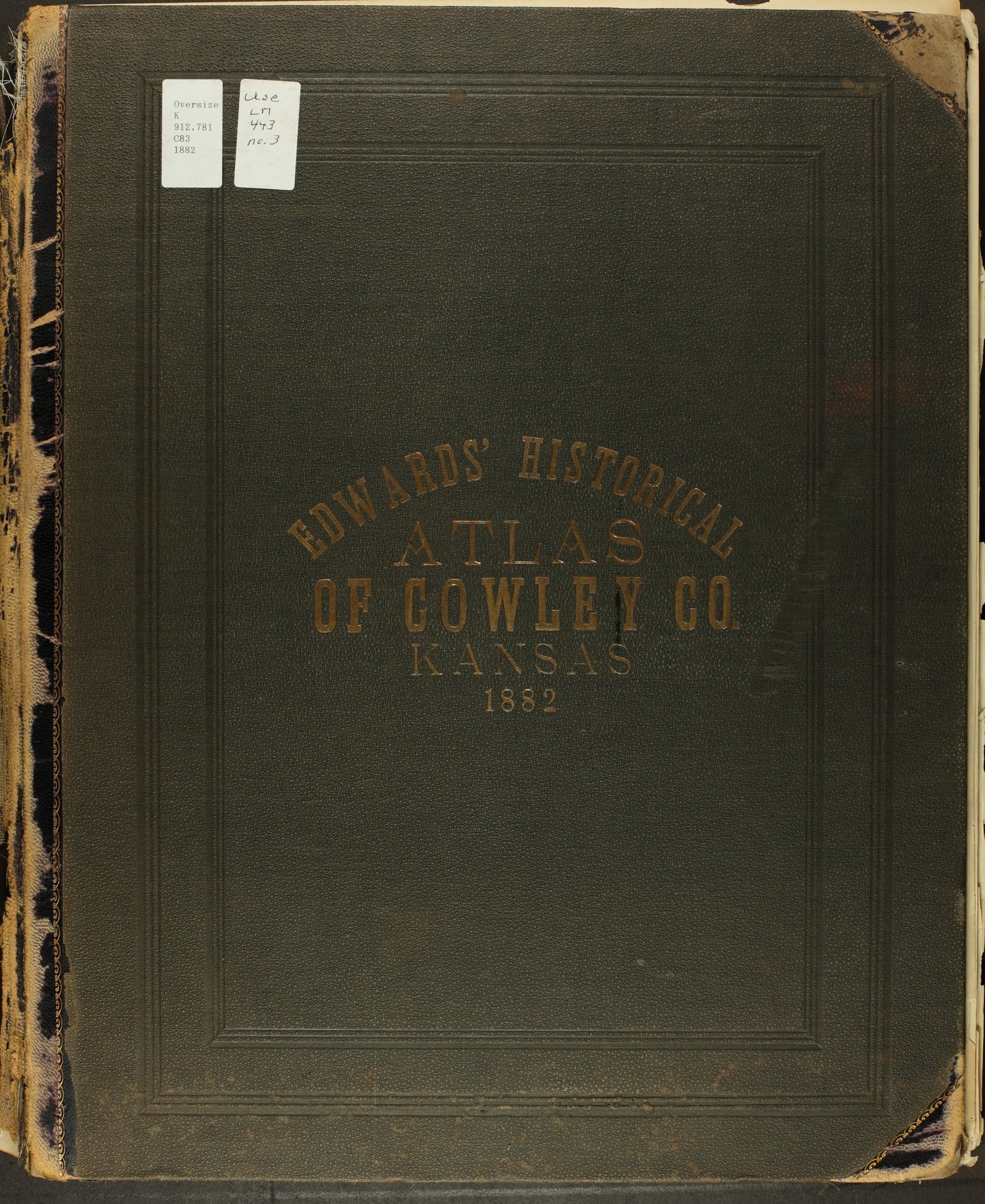 Historical atlas of Cowley County, Kansas - Front Cover