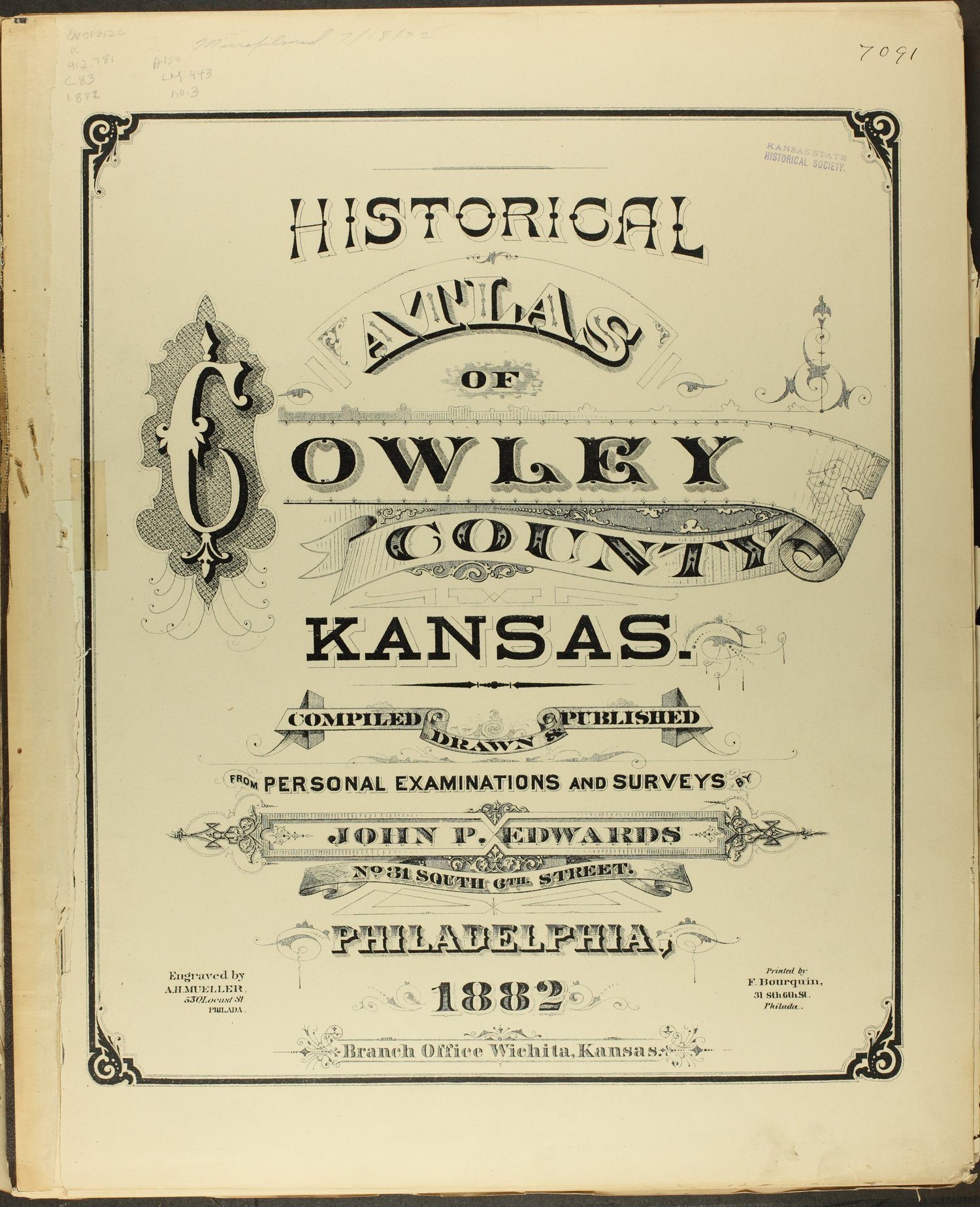 Historical atlas of Cowley County, Kansas - Title Page