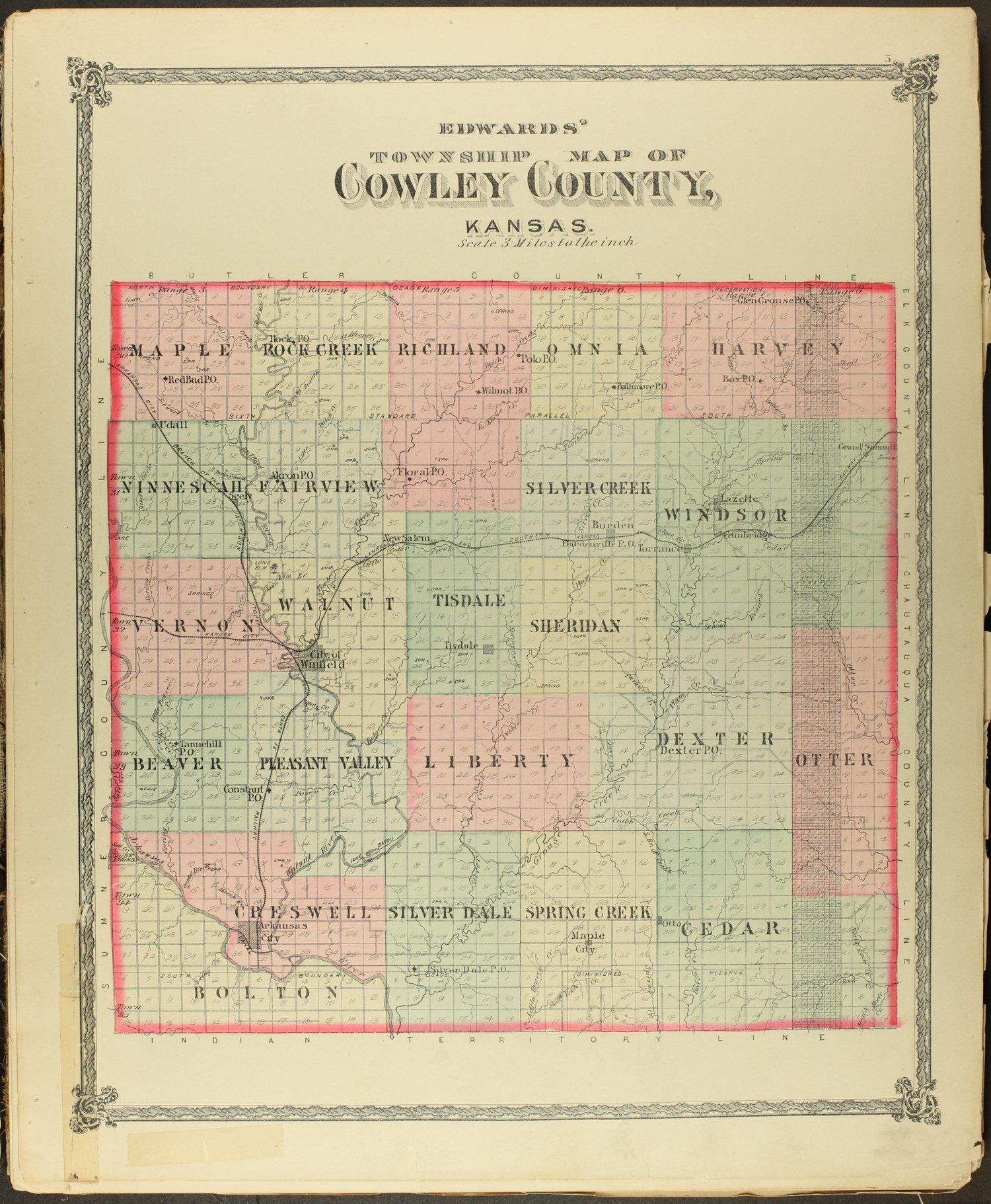 Historical atlas of Cowley County, Kansas - 5