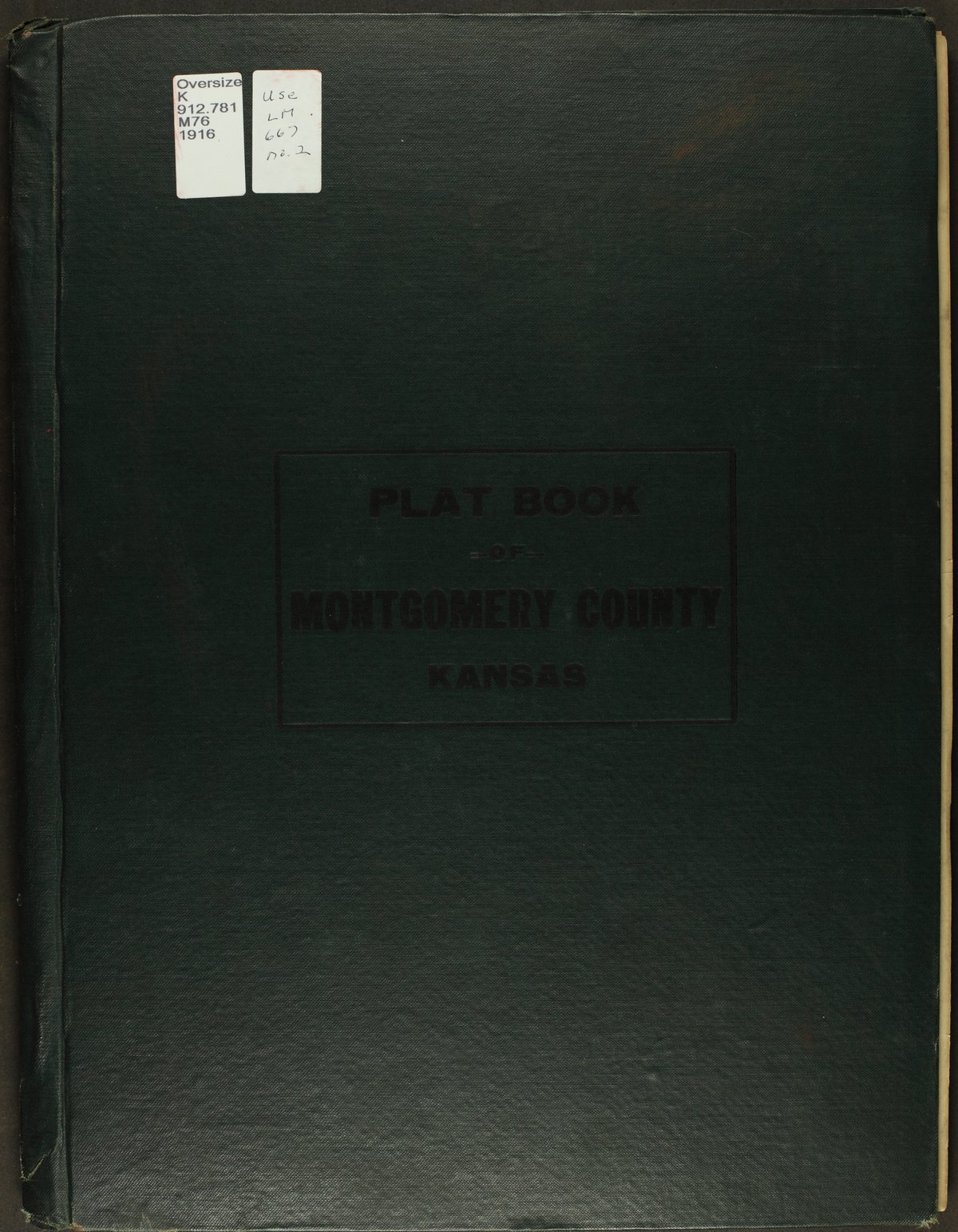 Atlas and plat book of Montgomery County, Kansas - Front Cover