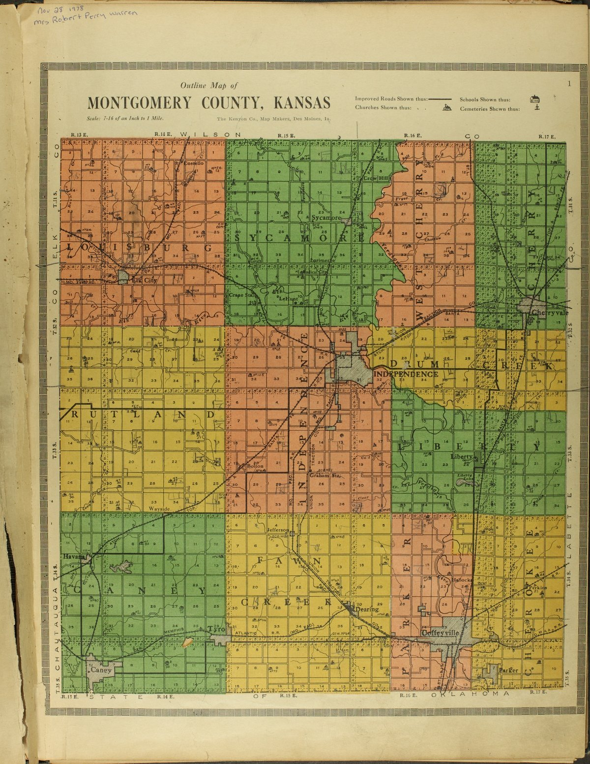 Atlas and plat book of Montgomery County, Kansas - 1