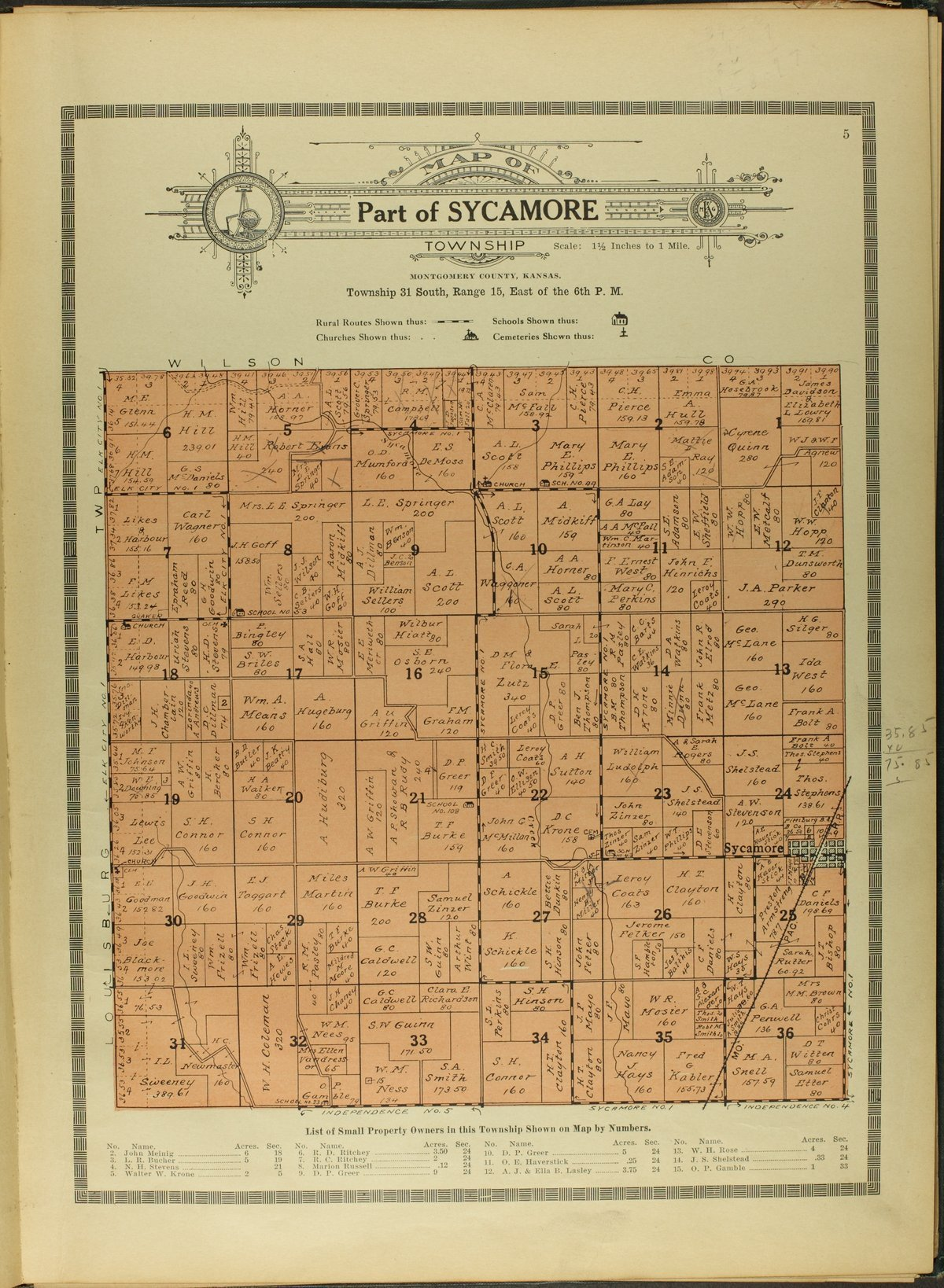 Atlas and plat book of Montgomery County, Kansas - 5