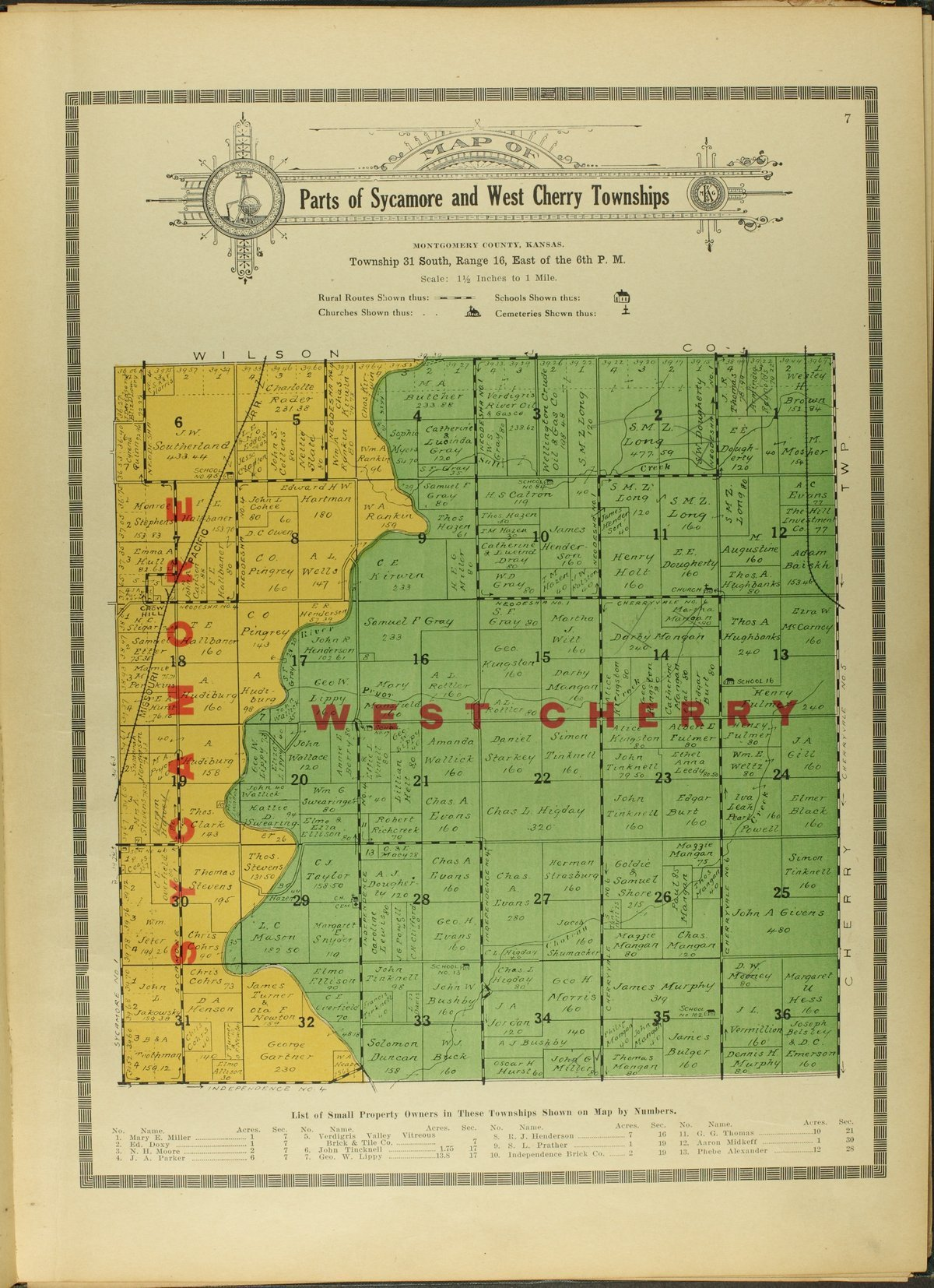 Atlas and plat book of Montgomery County, Kansas - 7