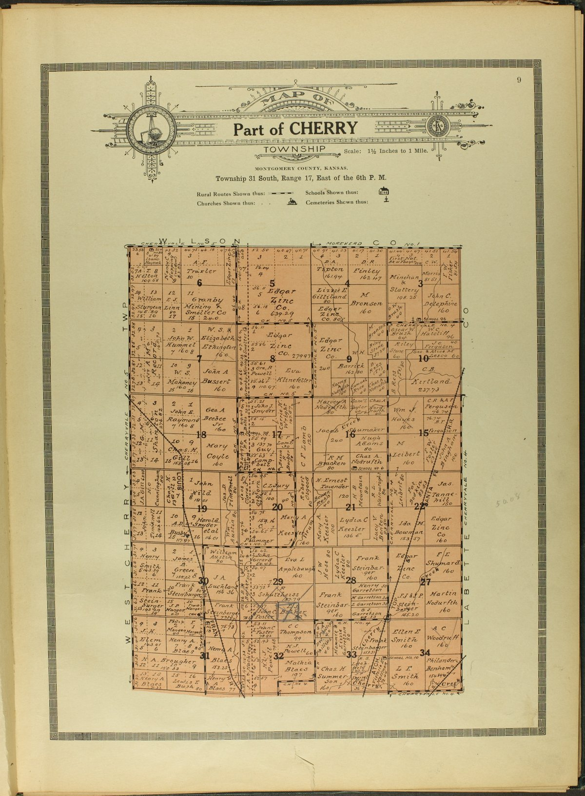 Atlas and plat book of Montgomery County, Kansas - 9