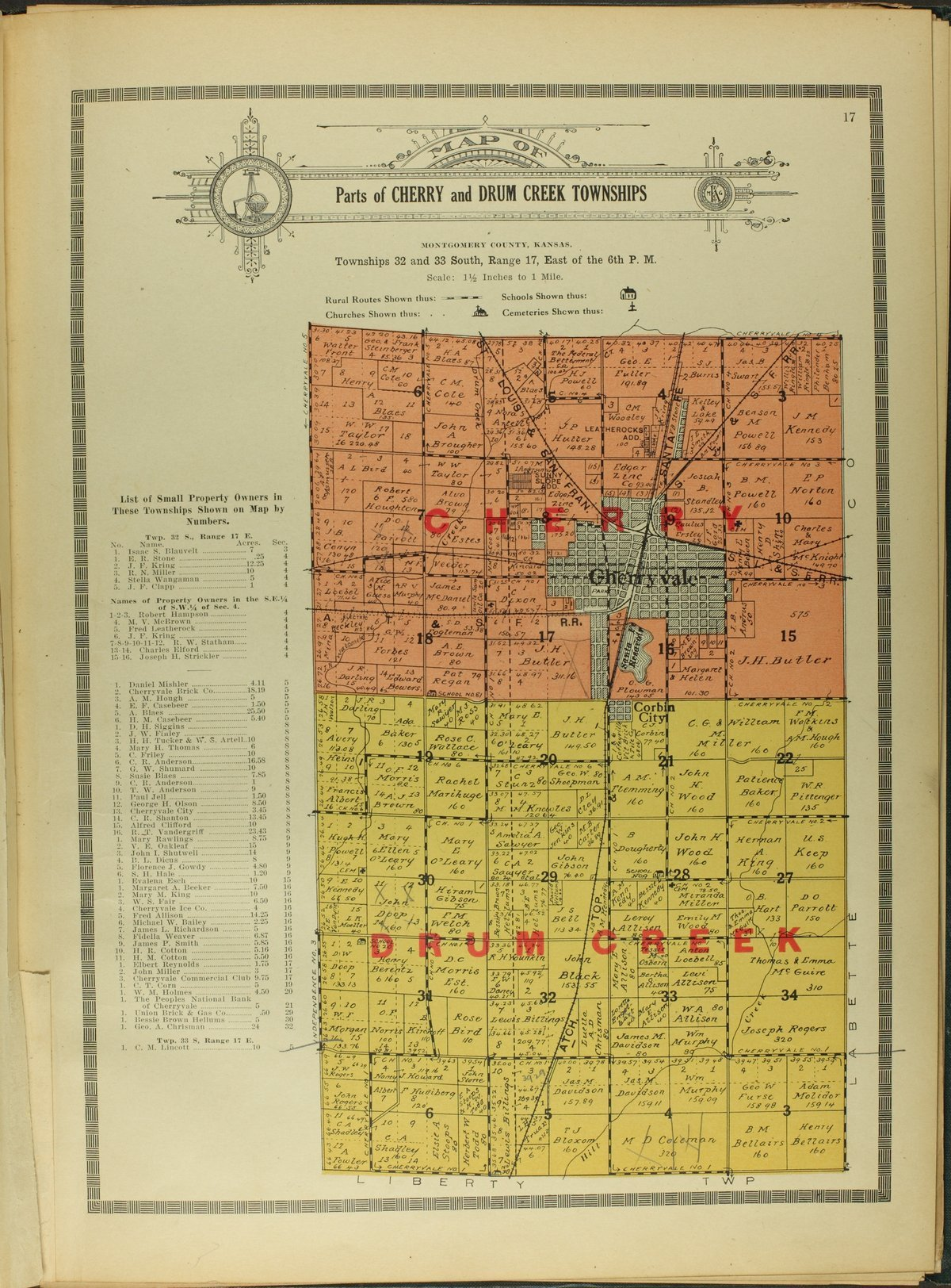 Atlas and plat book of Montgomery County, Kansas - 17