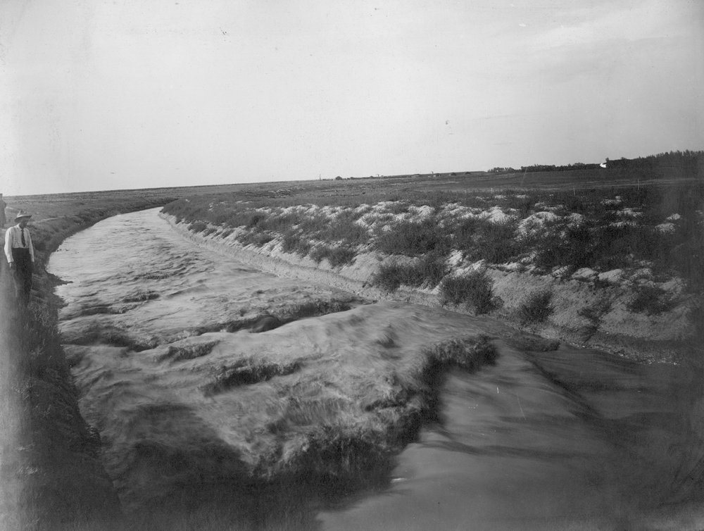Canal from Great Eastern head gate in Finney County, Kansas