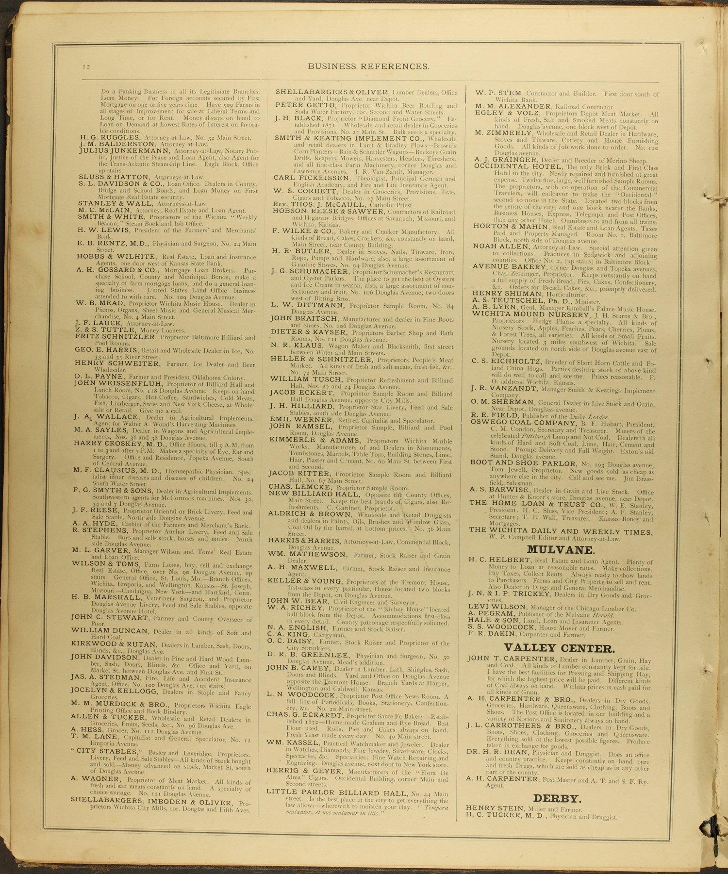Historical Atlas of Sedgwick County, Kansas - 12