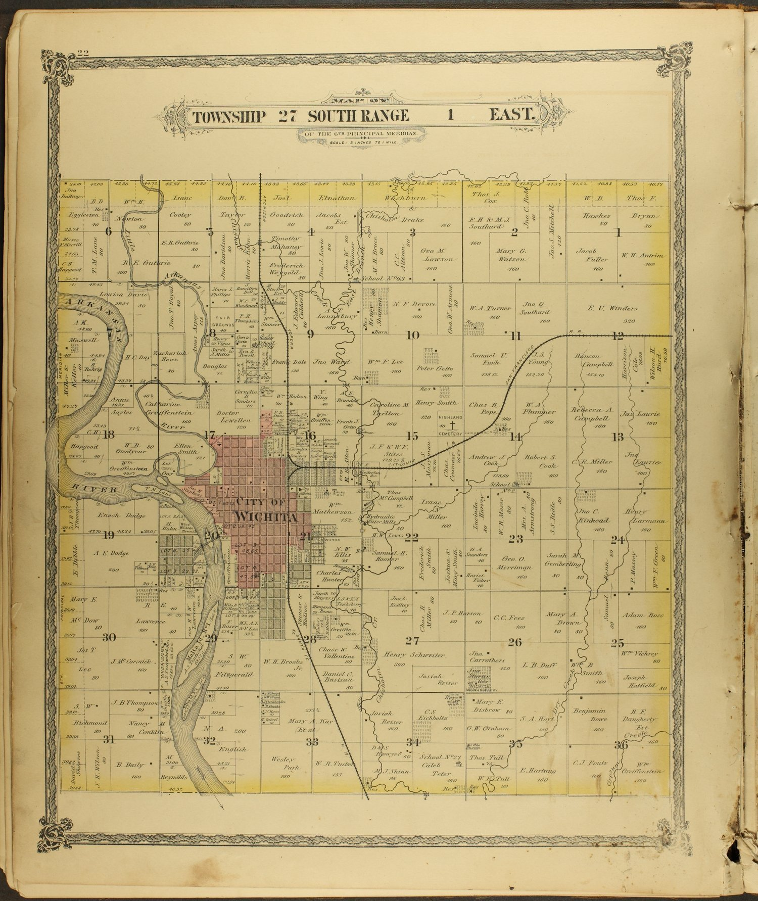 Historical Atlas of Sedgwick County, Kansas - 22