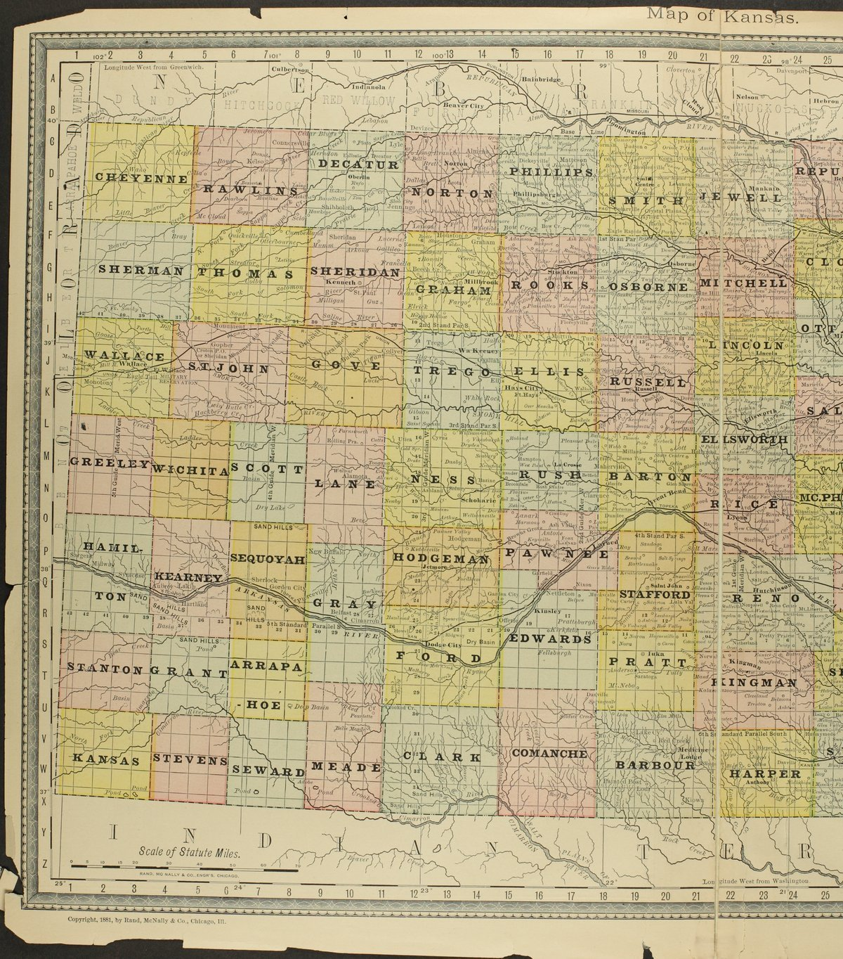 Historical plat book of Doniphan County, Kansas - Map of Kansas