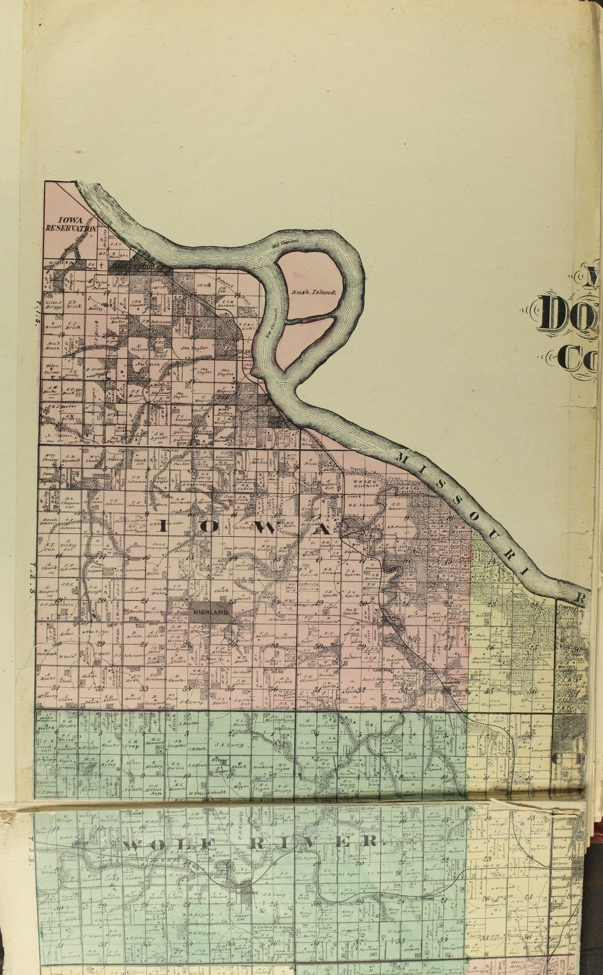 Historical plat book of Doniphan County, Kansas - Map of Doniphan co (a)
