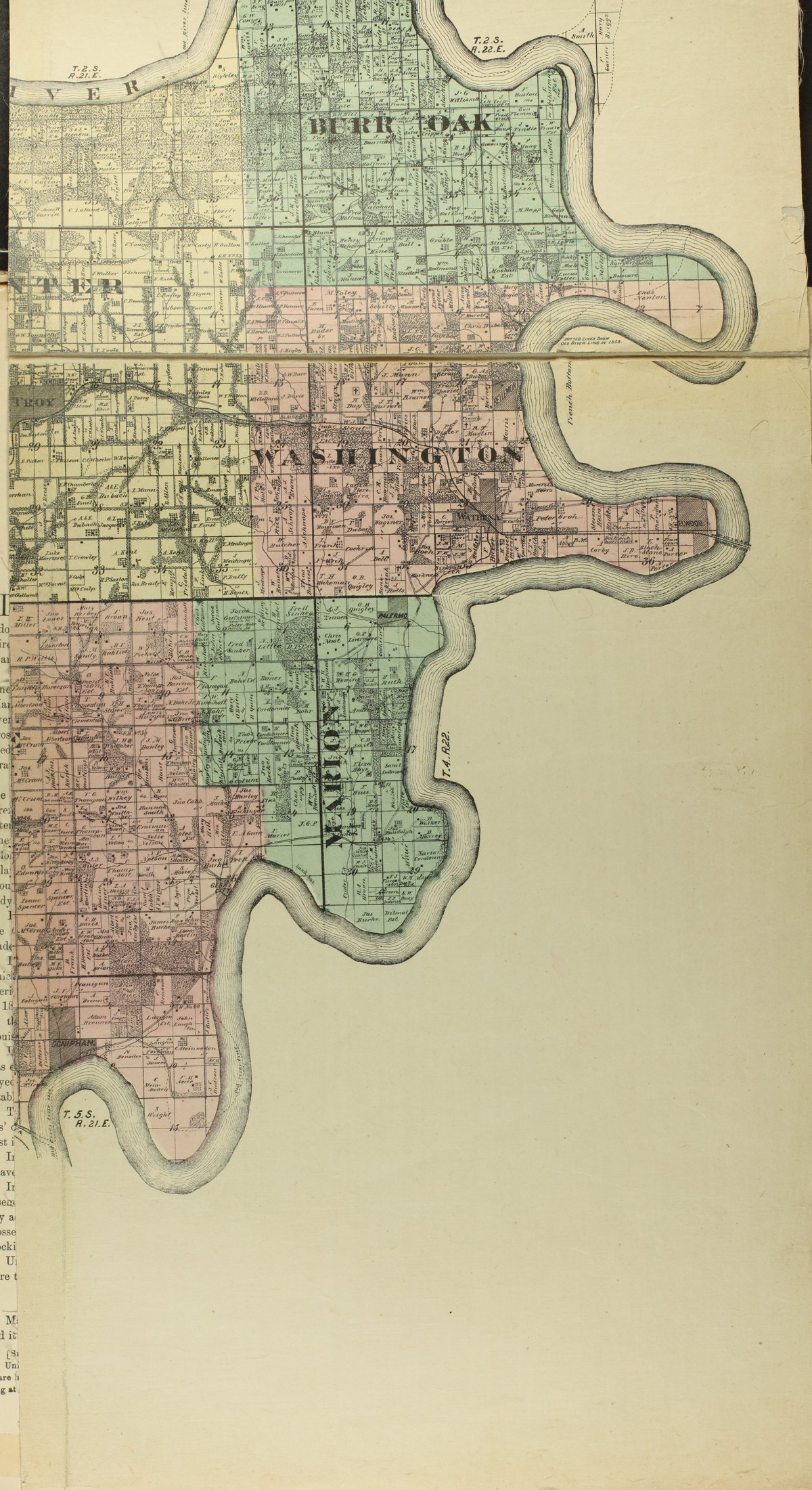 Historical plat book of Doniphan County, Kansas - Map of Doniphan Co (d)